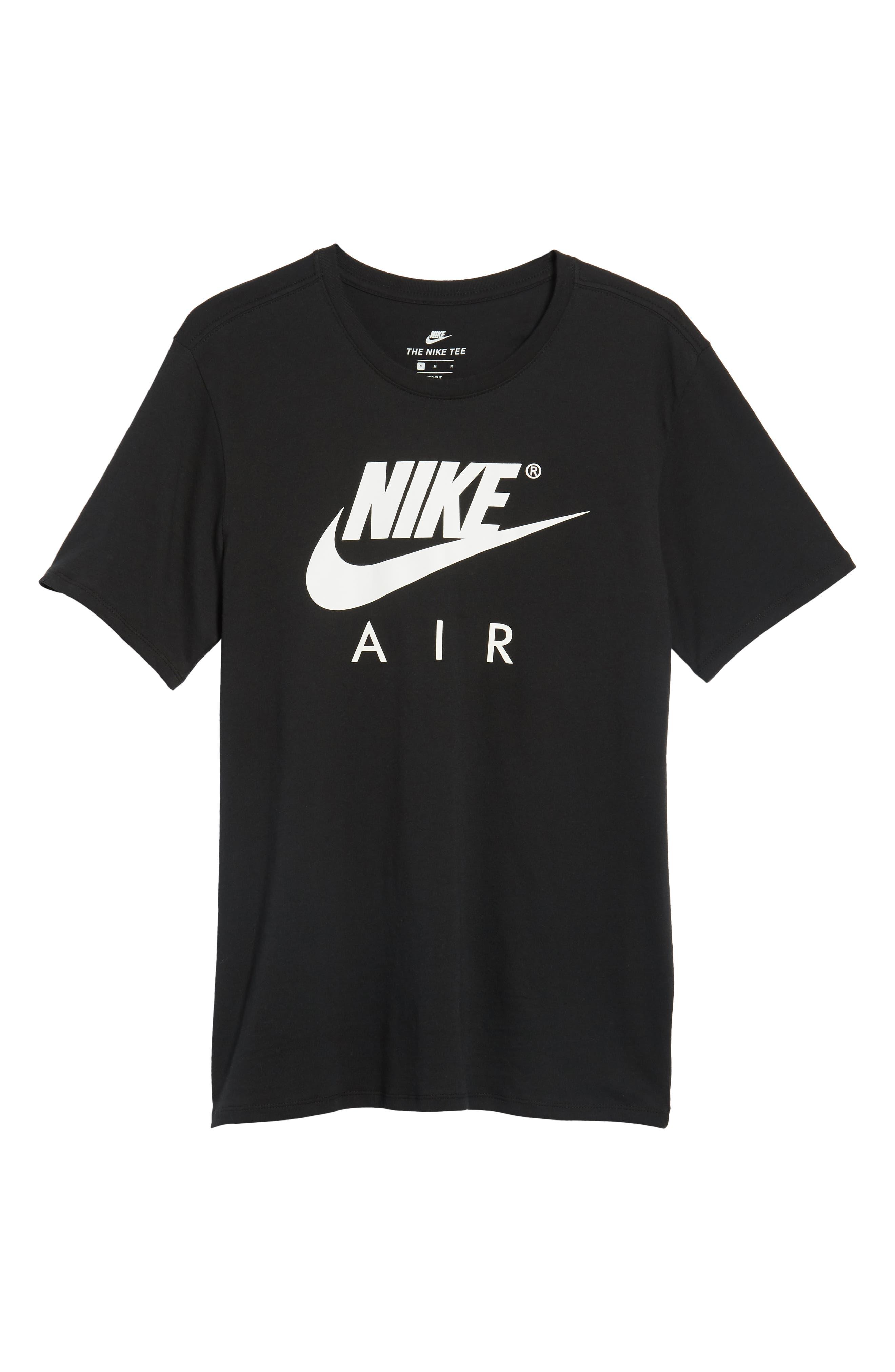 NSW Air 3 Crewneck T-Shirt,                             Alternate thumbnail 6, color,                             BLACK/ WHITE