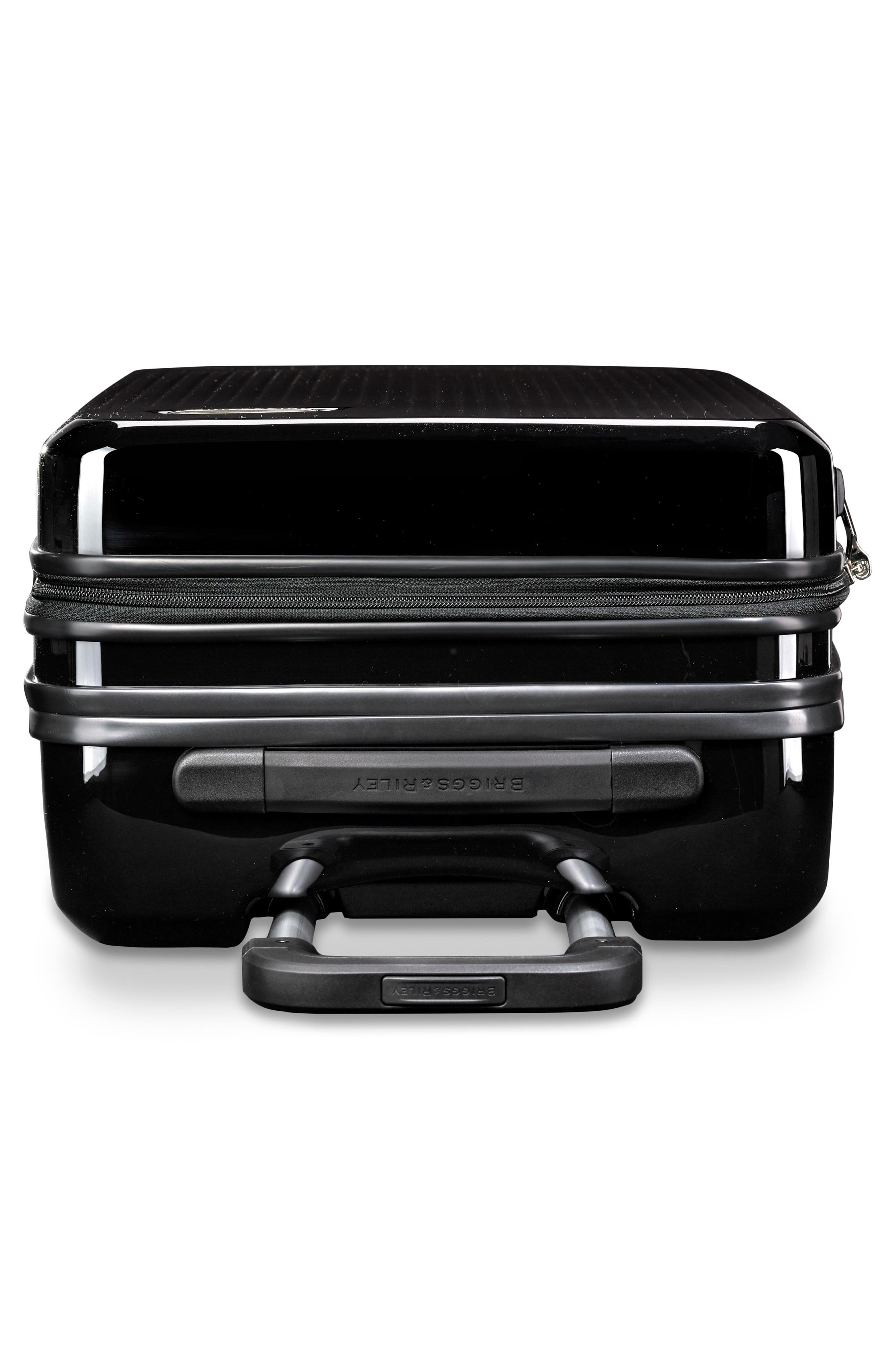 22-Inch Domestic Expandable Spinner Wheeled Carry-On,                             Alternate thumbnail 6, color,                             ONYX GLOSS