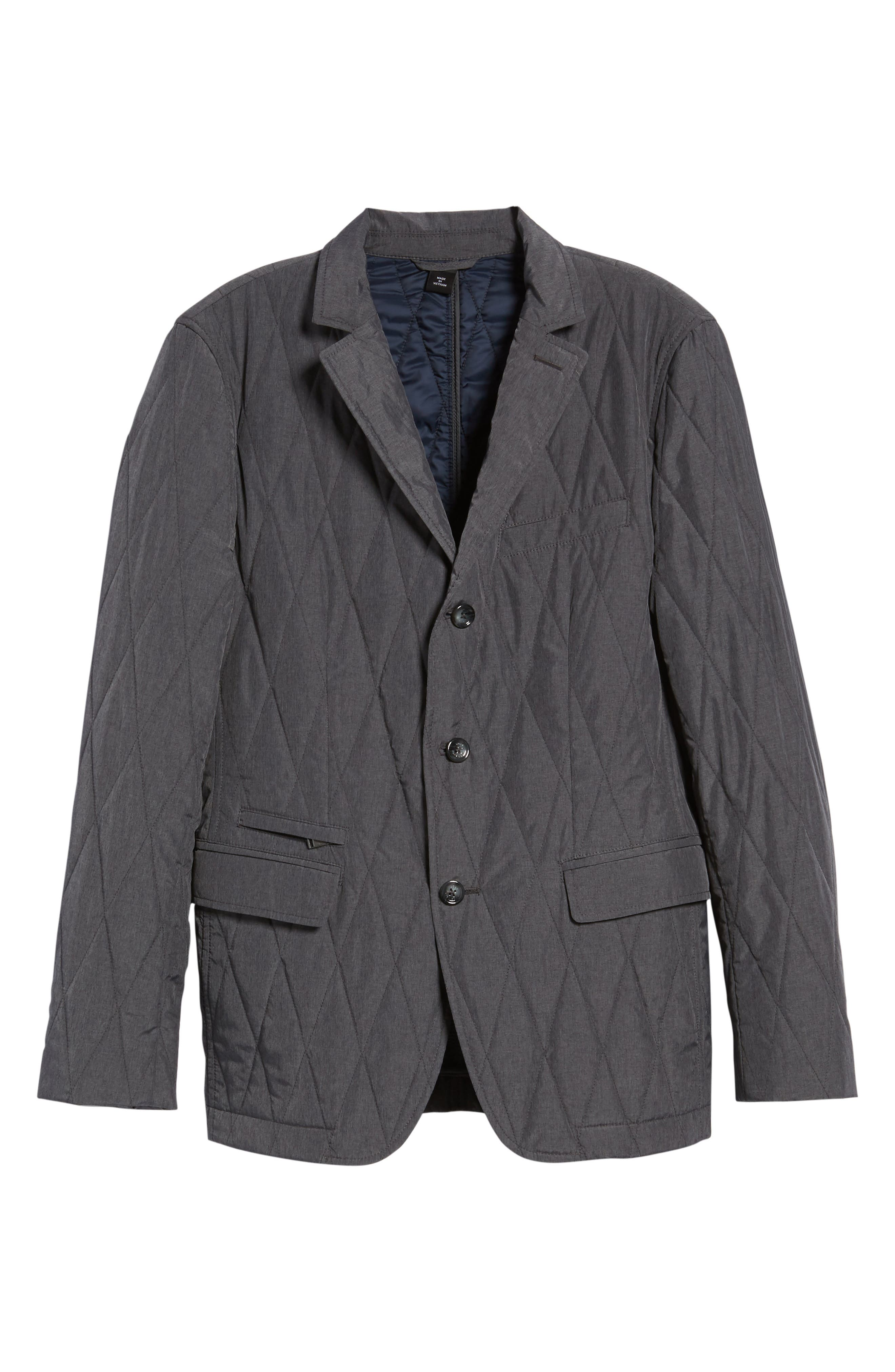 Jord Water Repellent Quilted Sport Coat,                             Alternate thumbnail 5, color,