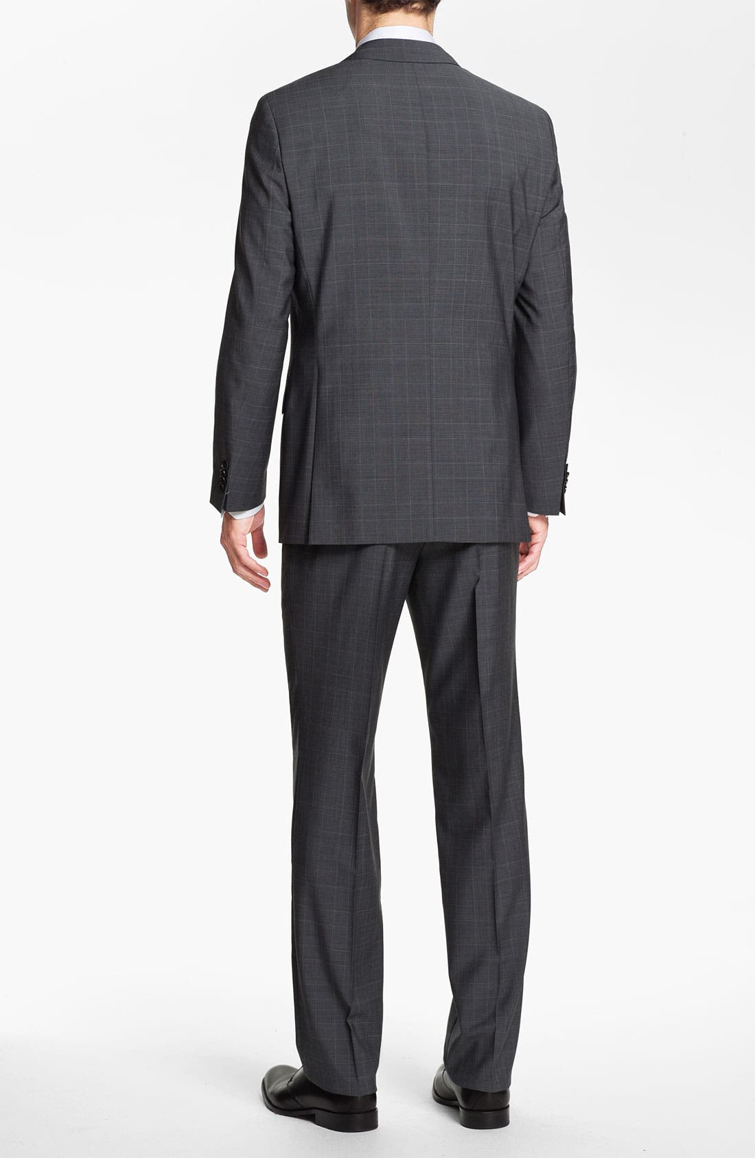 BOSS Black 'Pasini/Movie' Plaid Suit,                             Alternate thumbnail 6, color,                             030