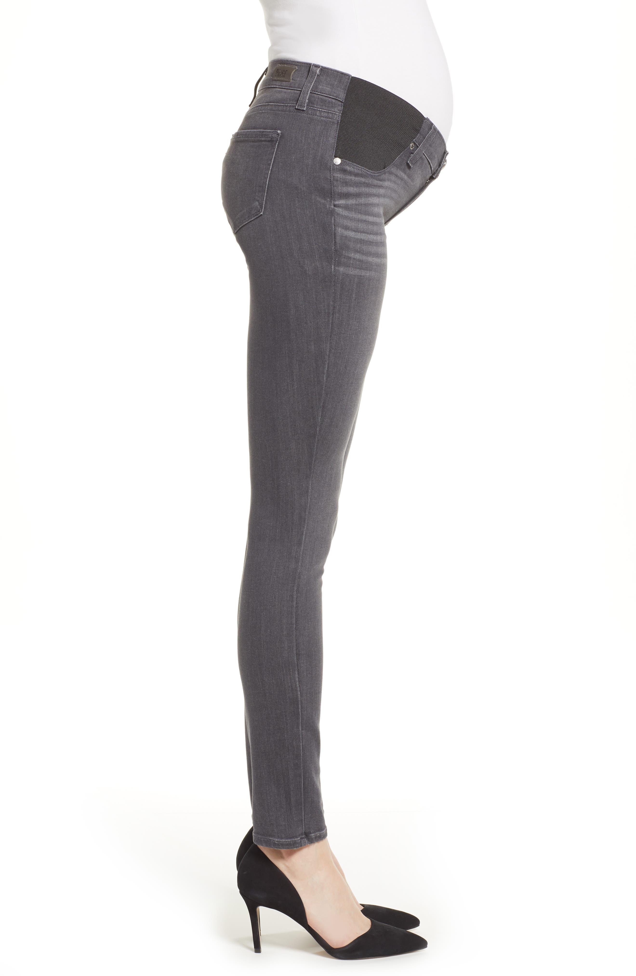 Transcend - Verdugo Maternity Skinny Jeans,                             Alternate thumbnail 3, color,                             GREY PEAKS