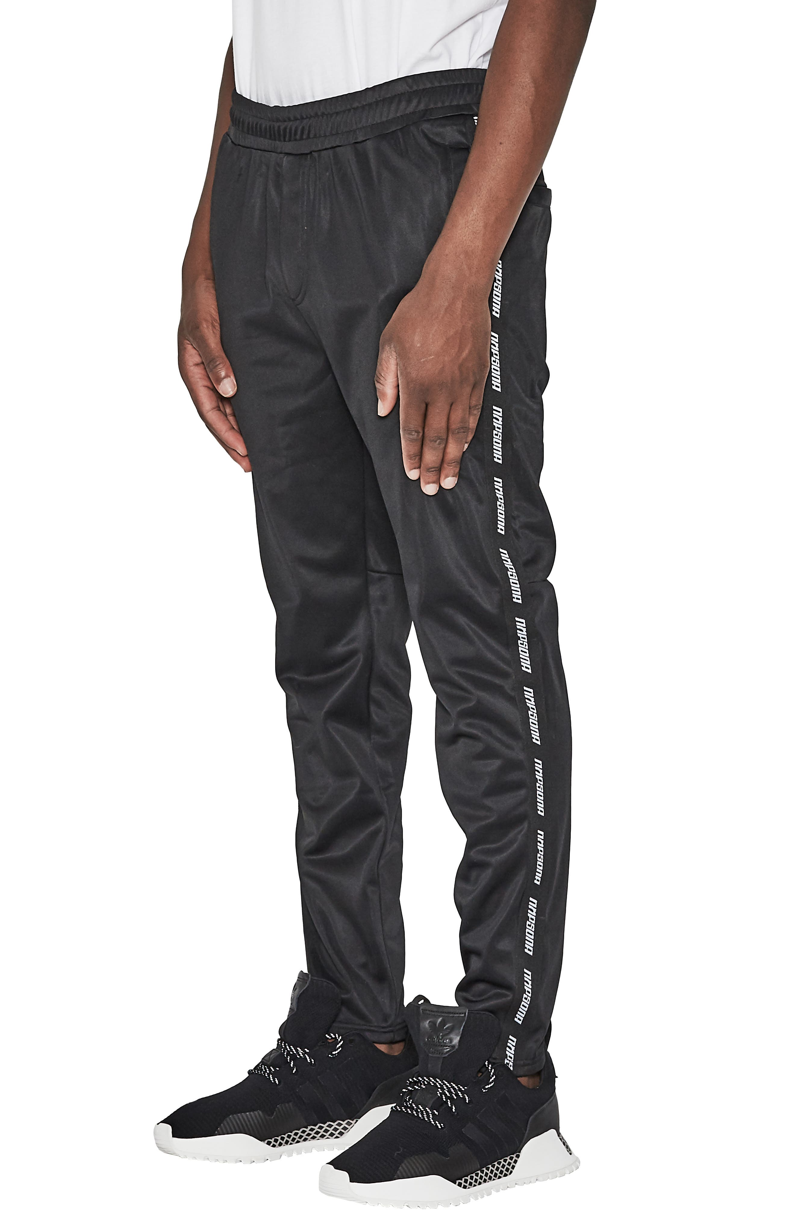 Legacy Slim Fit Track Pants,                             Alternate thumbnail 3, color,                             JET BLACK