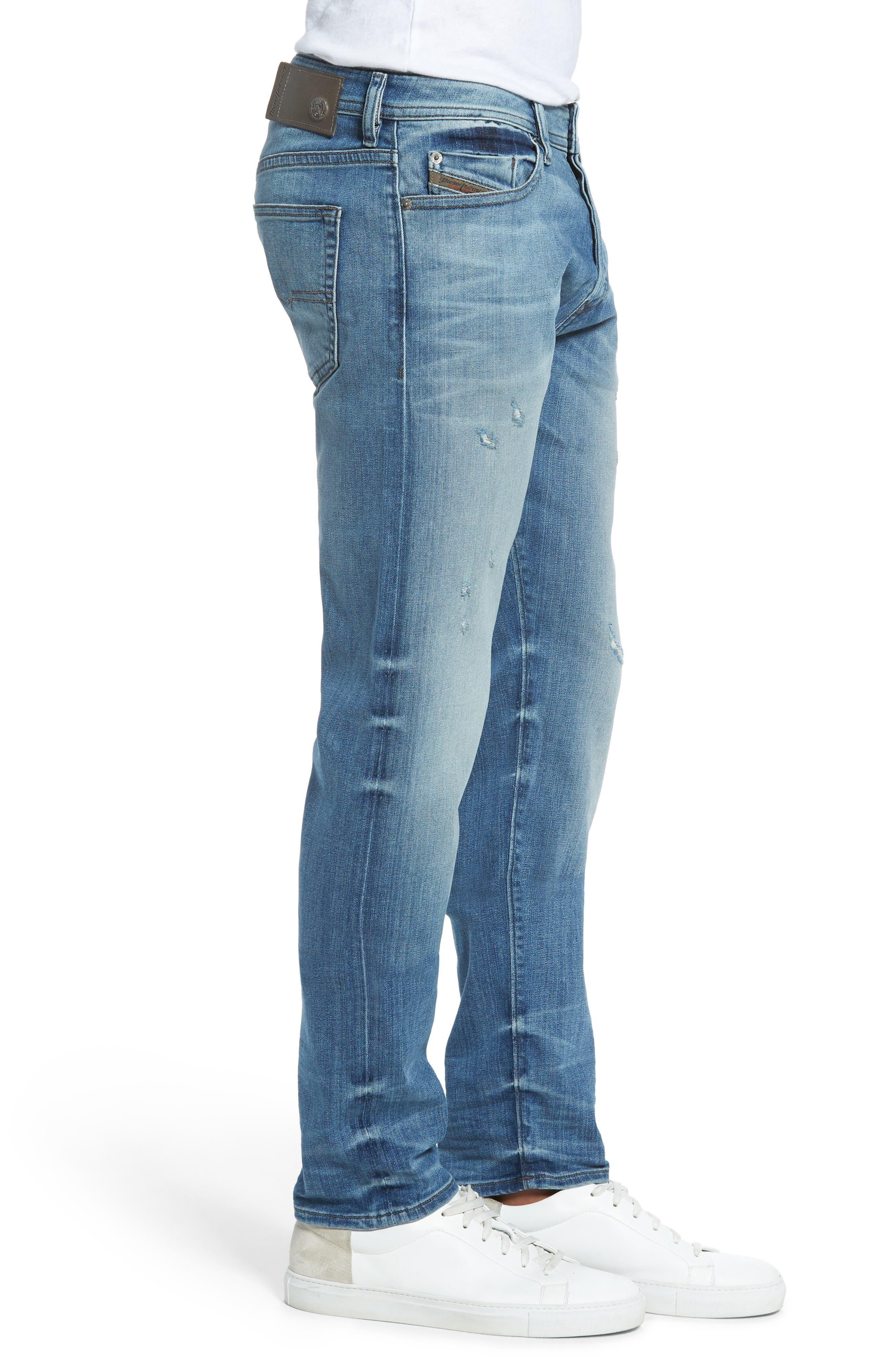 'Buster' Slim Straight Fit Jeans,                             Alternate thumbnail 4, color,                             400