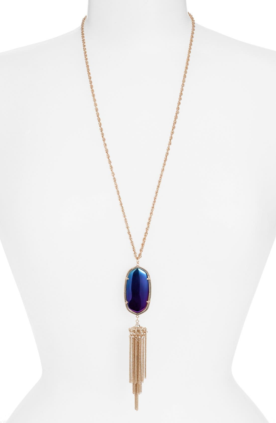 Rayne Stone Tassel Pendant Necklace,                             Main thumbnail 26, color,