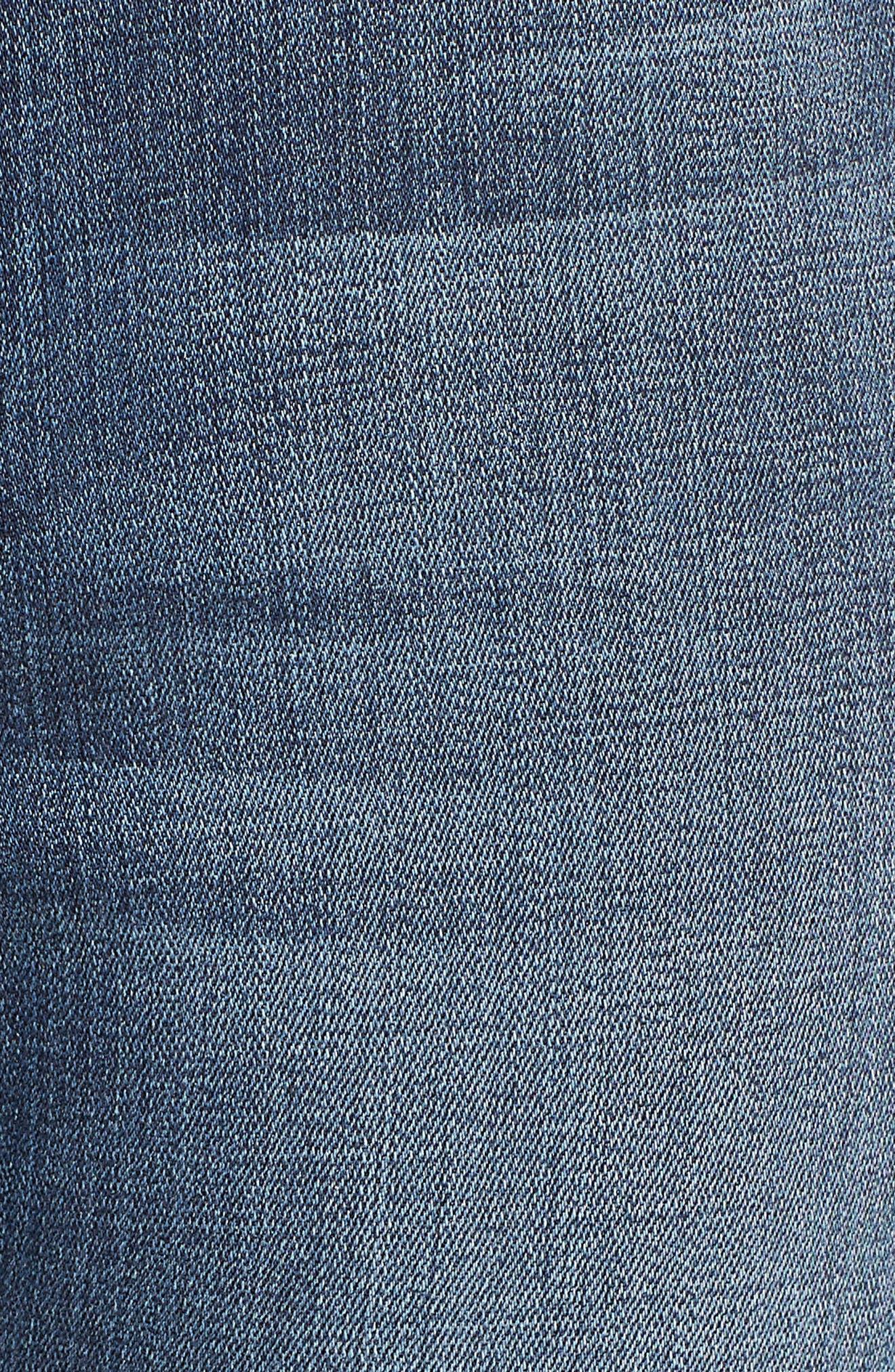 Good Waist Piecing High Waist Skinny Jeans,                             Alternate thumbnail 6, color,                             401