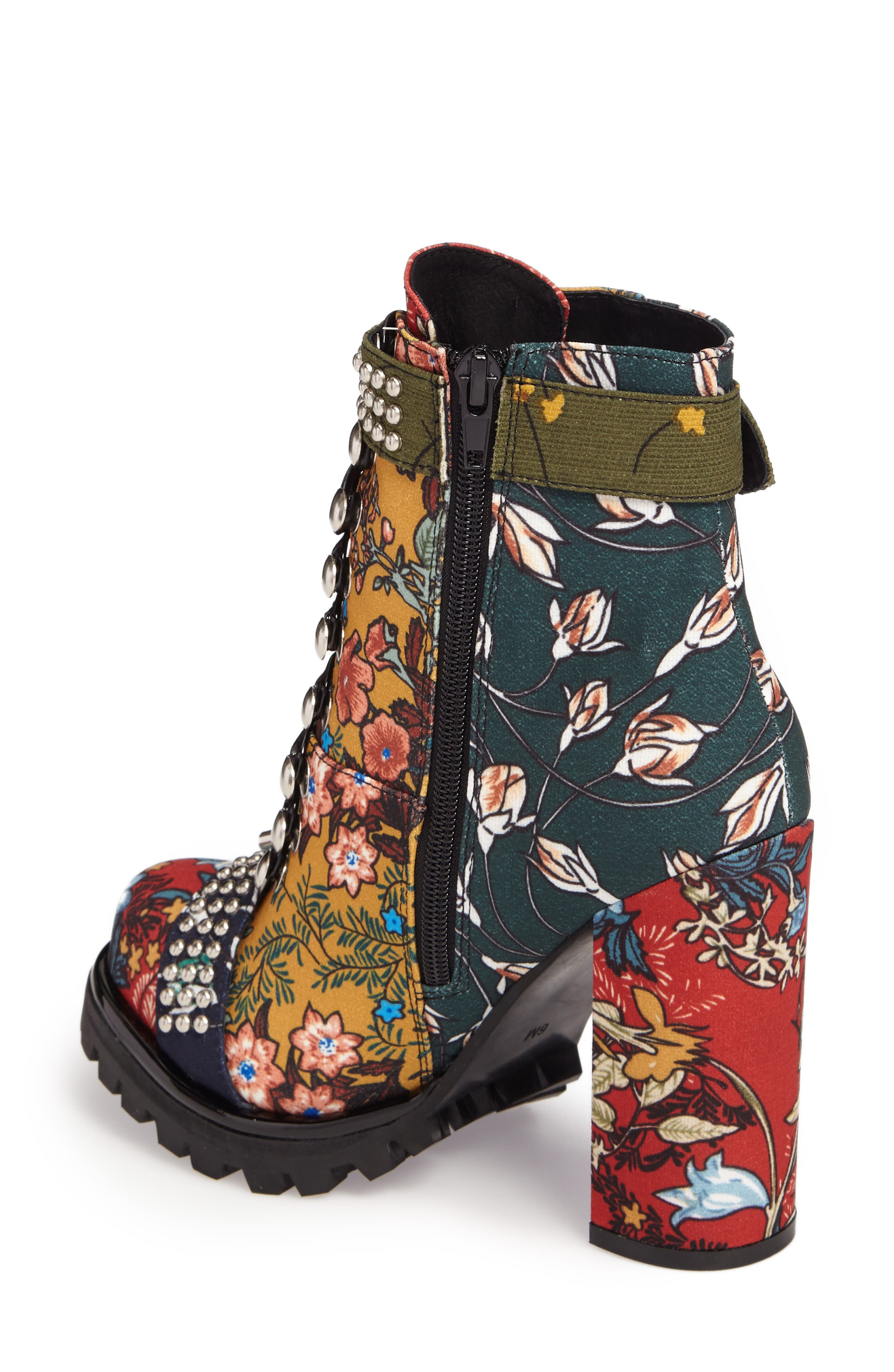 Lilith Block Heel Bootie,                             Alternate thumbnail 2, color,                             NEW FLORAL COMBO