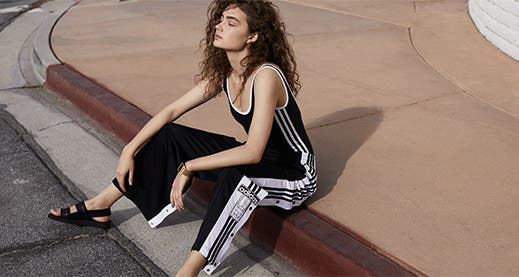 Women's workout clothing, shoes and accessories.