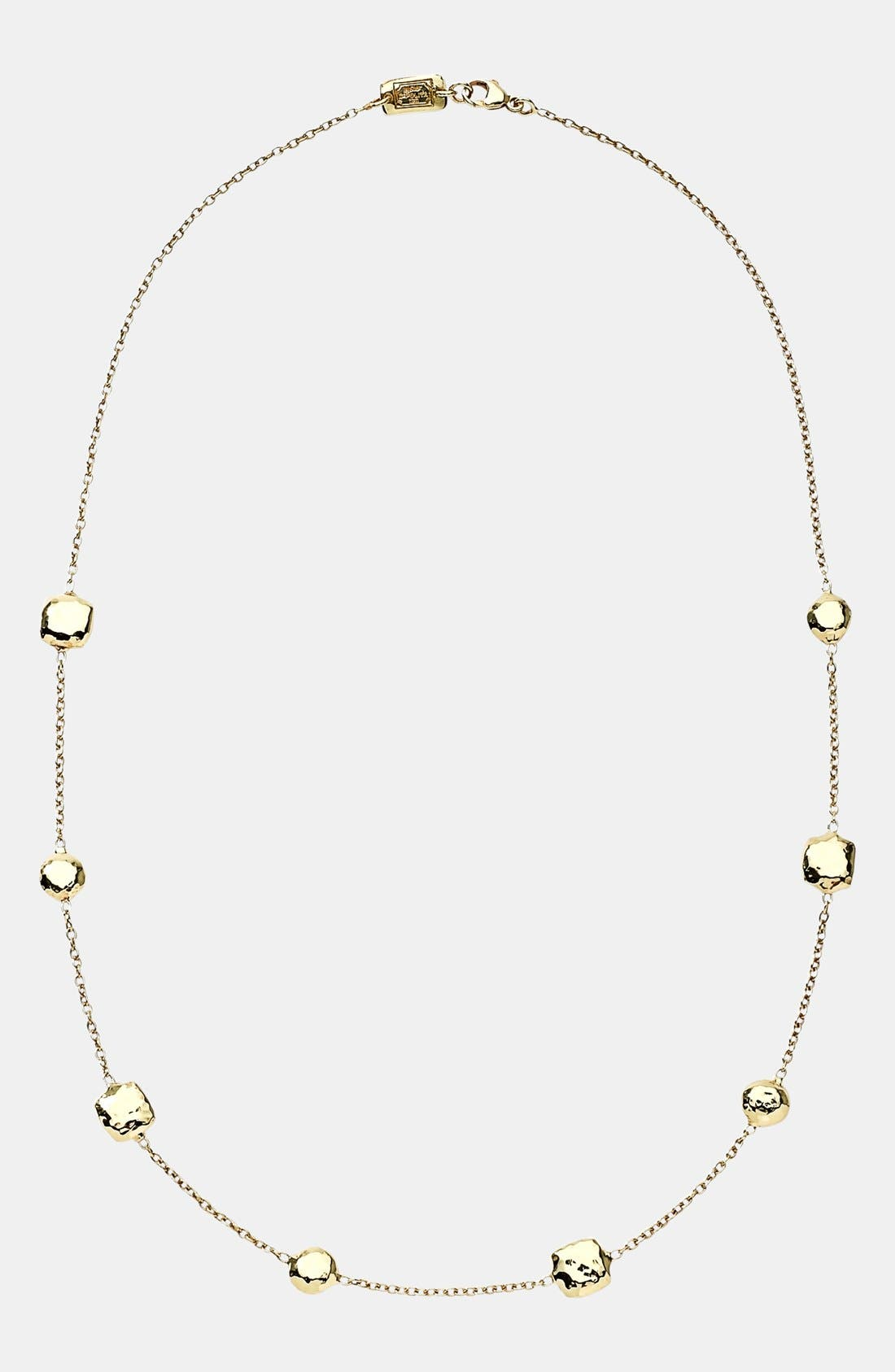 'Glamazon' 18k Gold Station Necklace,                             Alternate thumbnail 2, color,                             YELLOW GOLD