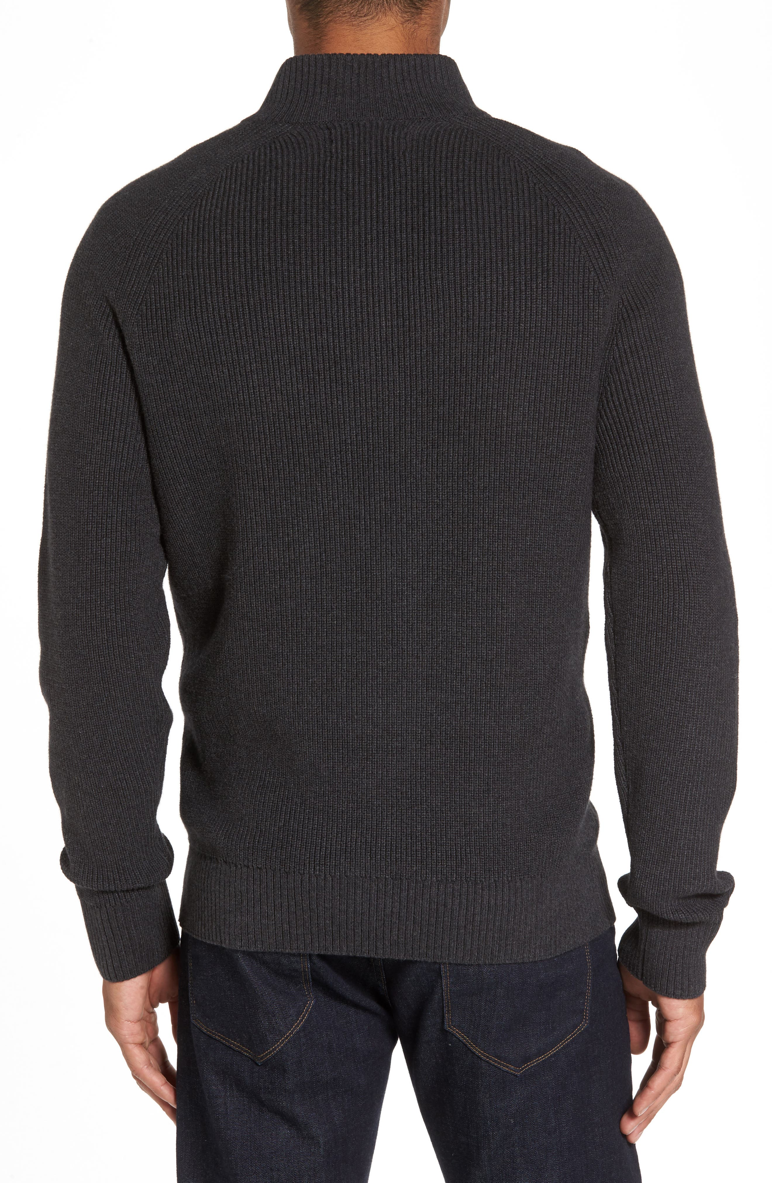 Ribbed Quarter Zip Sweater,                             Alternate thumbnail 2, color,                             021