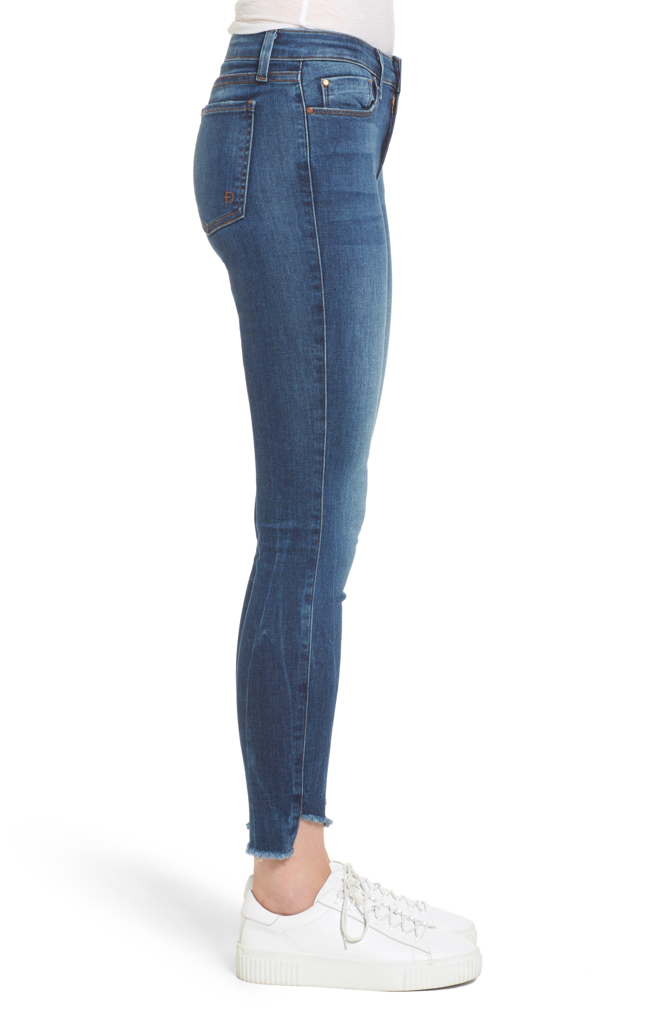 Mila Step Hem Skinny Jeans,                             Alternate thumbnail 3, color,                             400