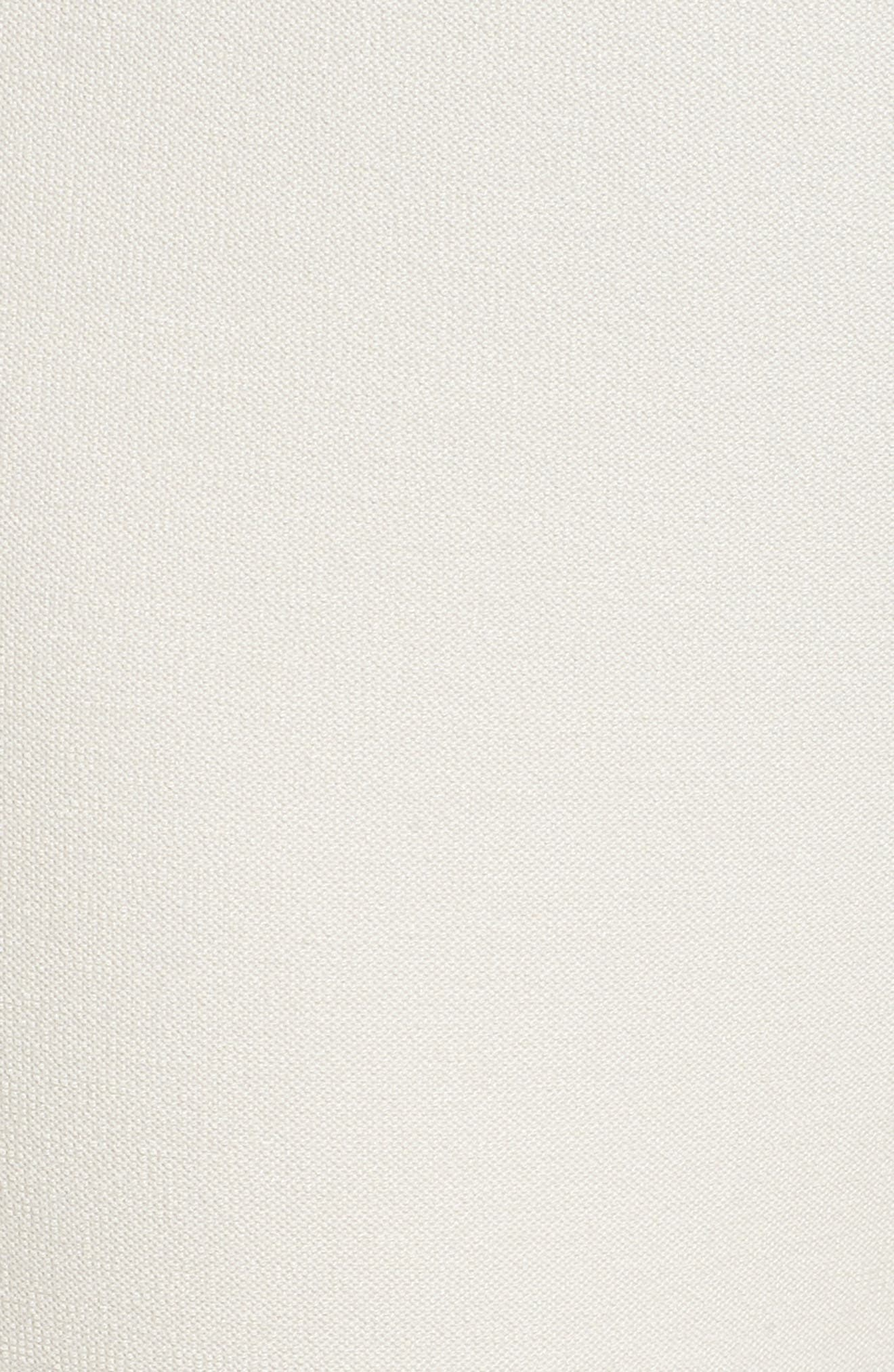 Foldover Waist Stretch Crepe Capri Pants,                             Alternate thumbnail 6, color,                             907