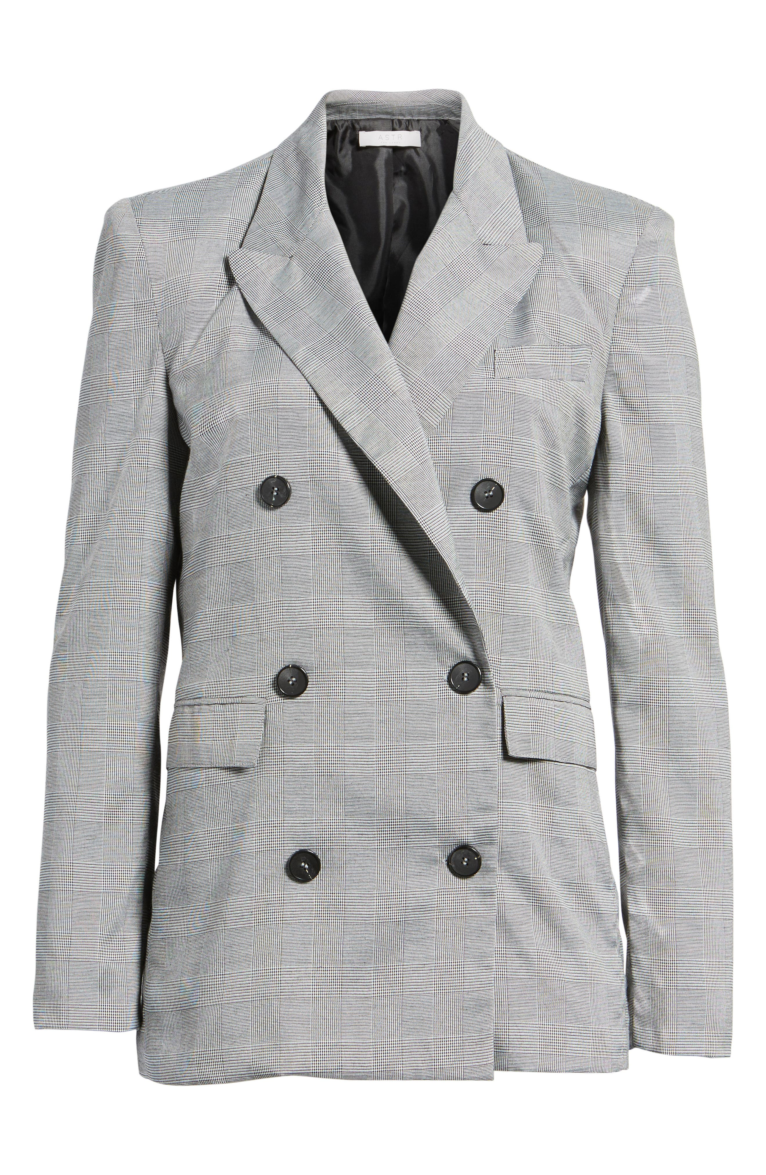 Double Breasted Blazer,                             Alternate thumbnail 5, color,                             001