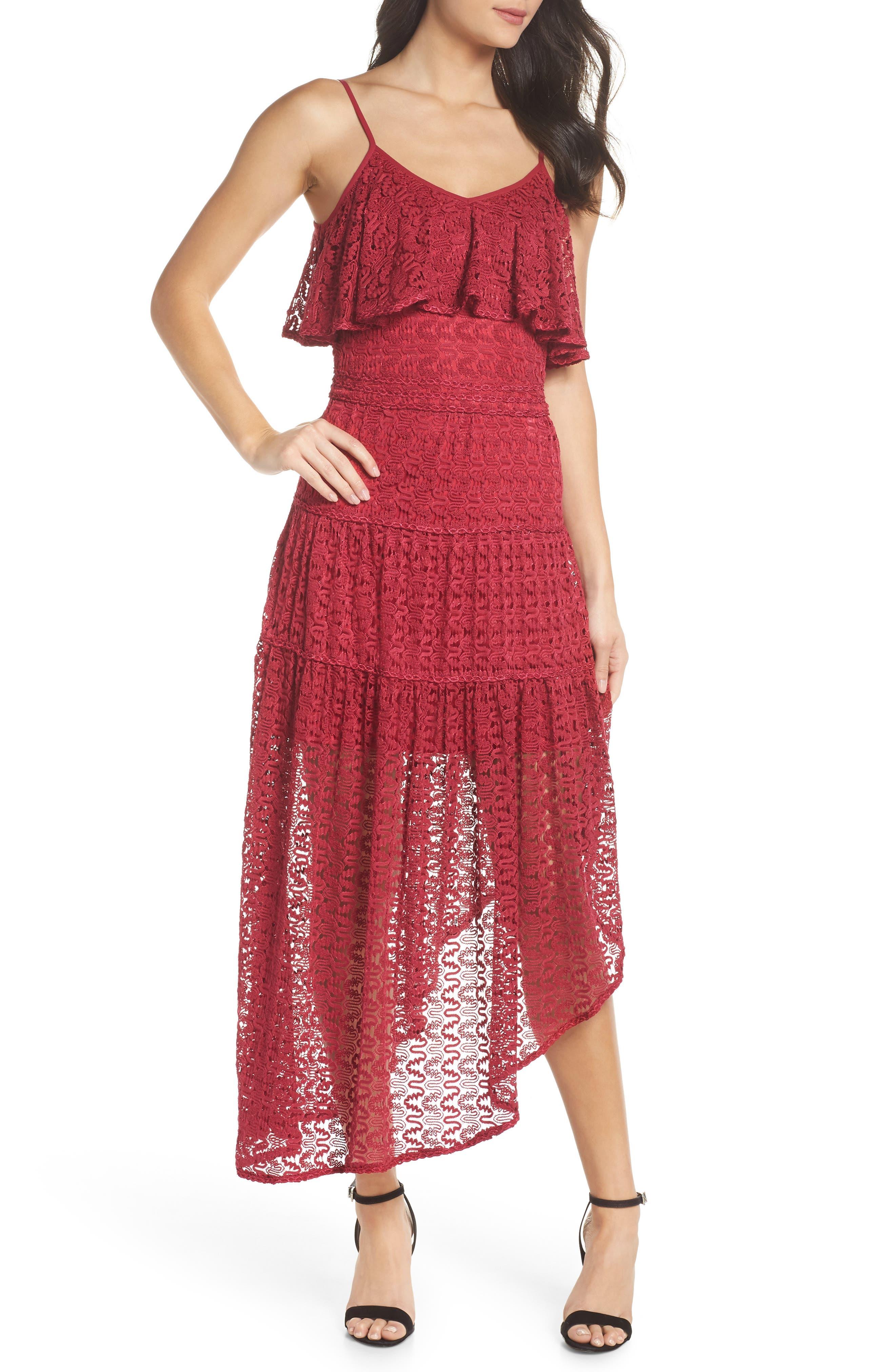 Rayna Asymmetrical Lace Dress,                             Alternate thumbnail 5, color,                             939