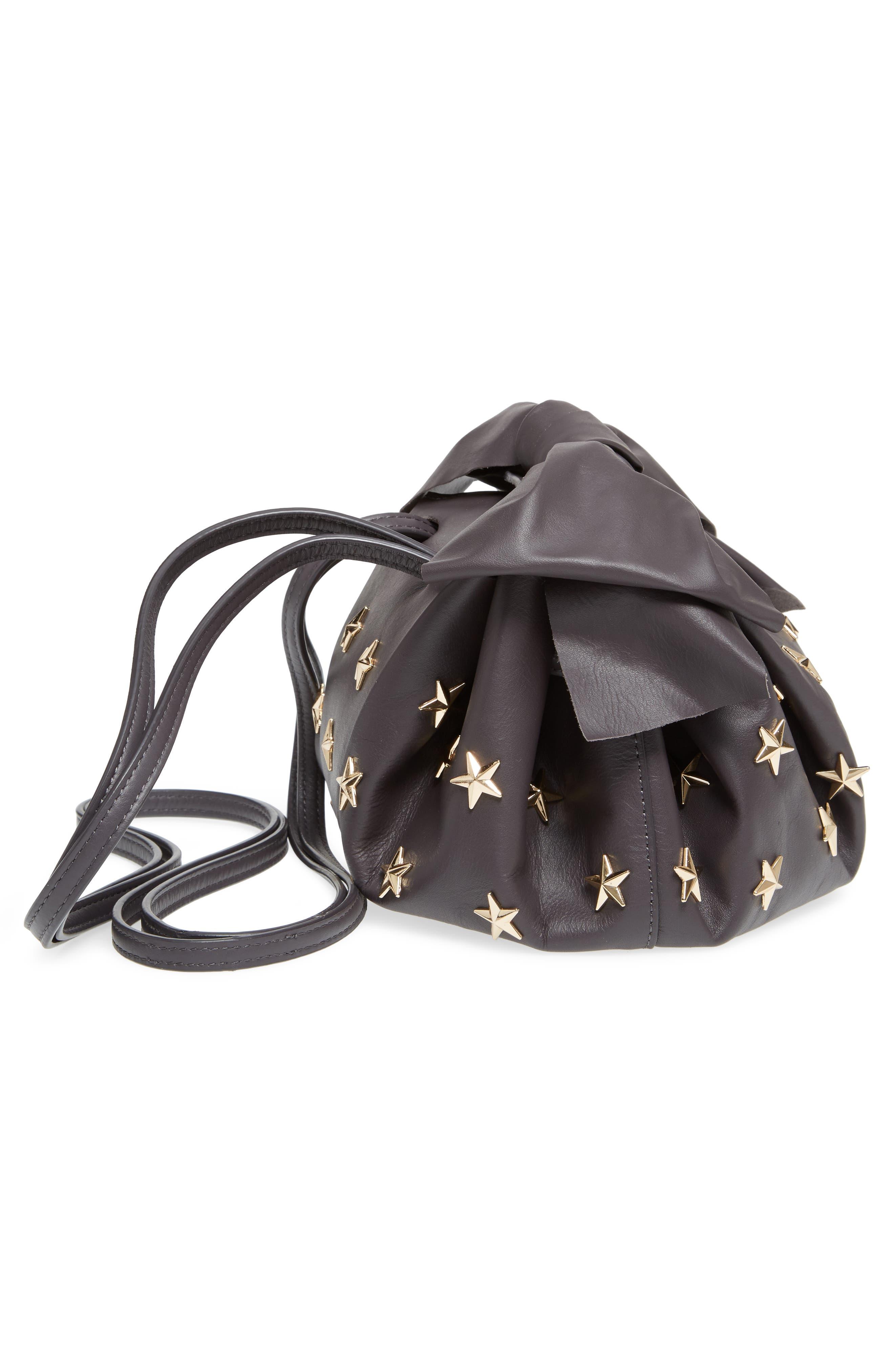 Soirée Star Stud Leather Crossbody Bag,                             Alternate thumbnail 5, color,                             020