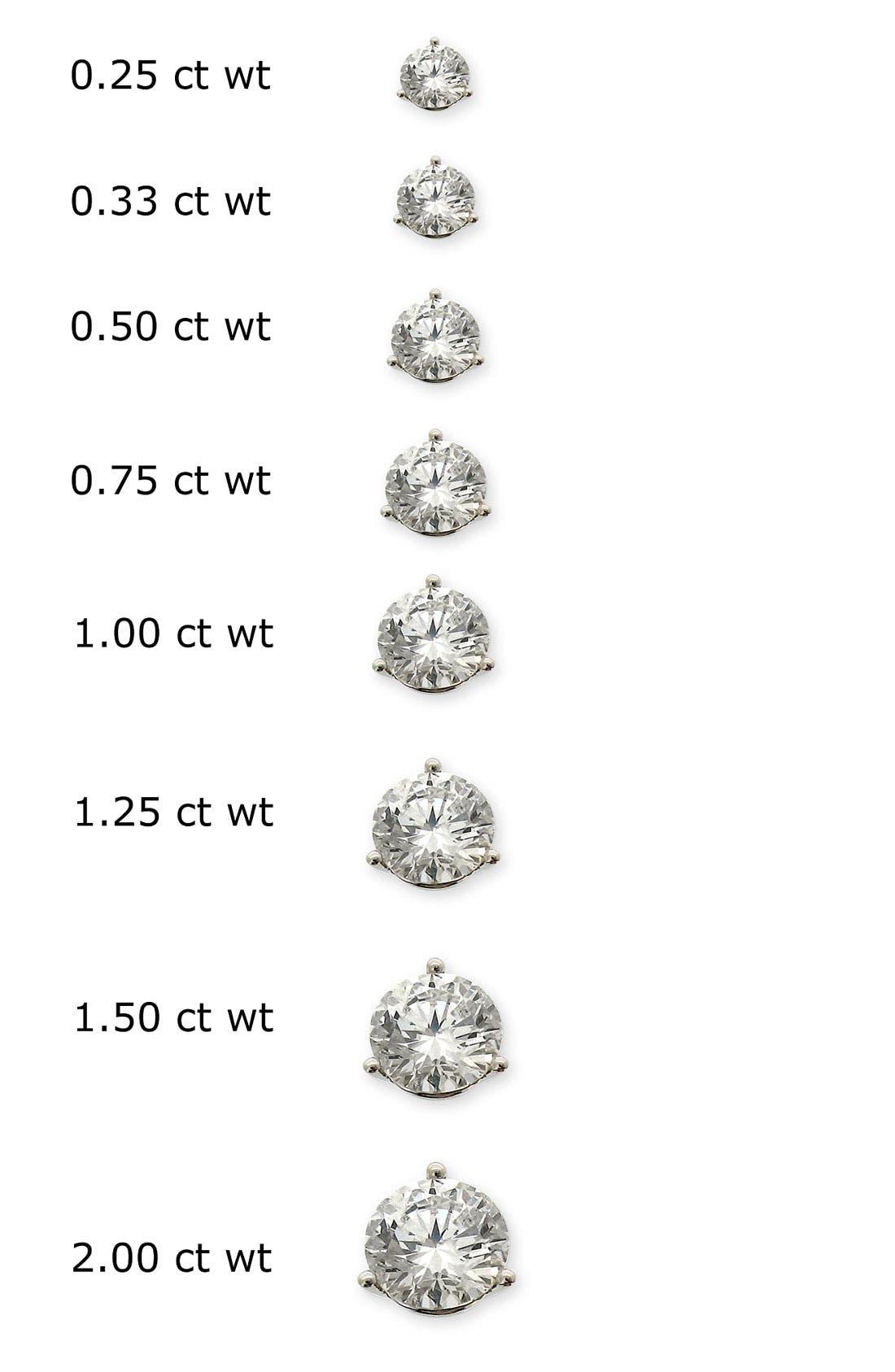 Diamond Stud Earrings,                             Alternate thumbnail 4, color,                             WHITE GOLD