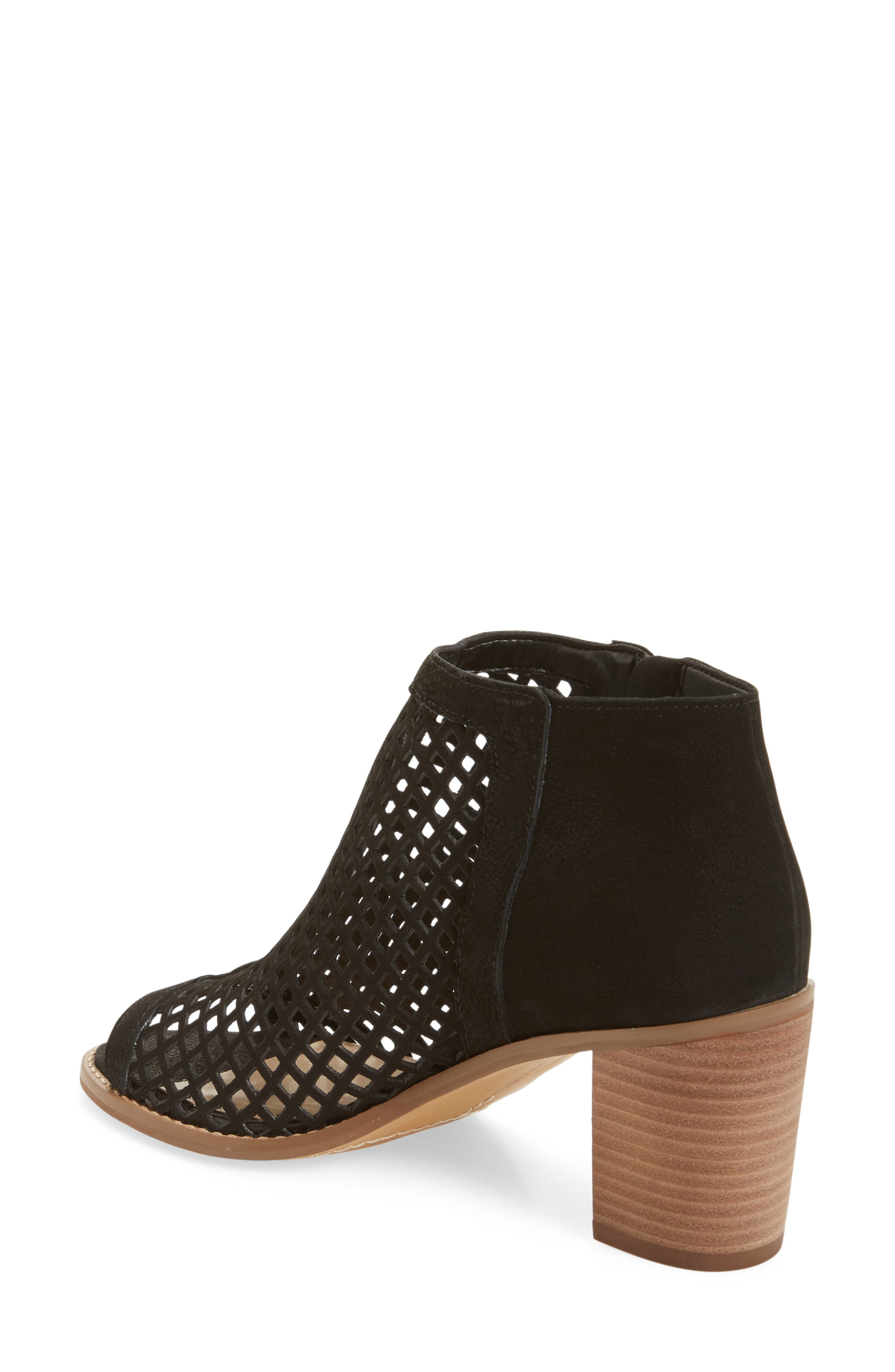 Tresin Perforated Open-Toe Bootie,                             Alternate thumbnail 2, color,                             001