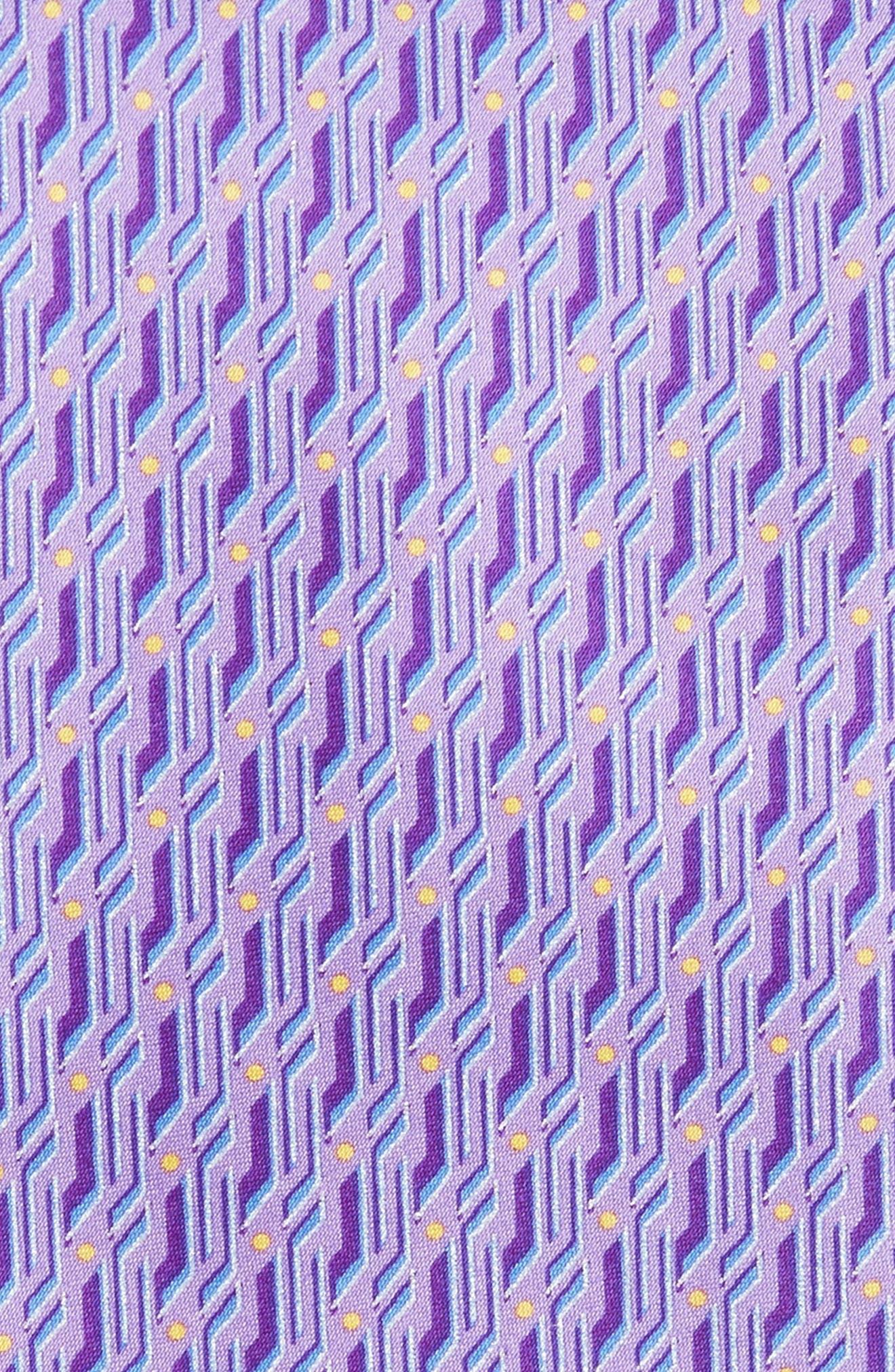 Geo Print Silk Tie,                             Alternate thumbnail 6, color,