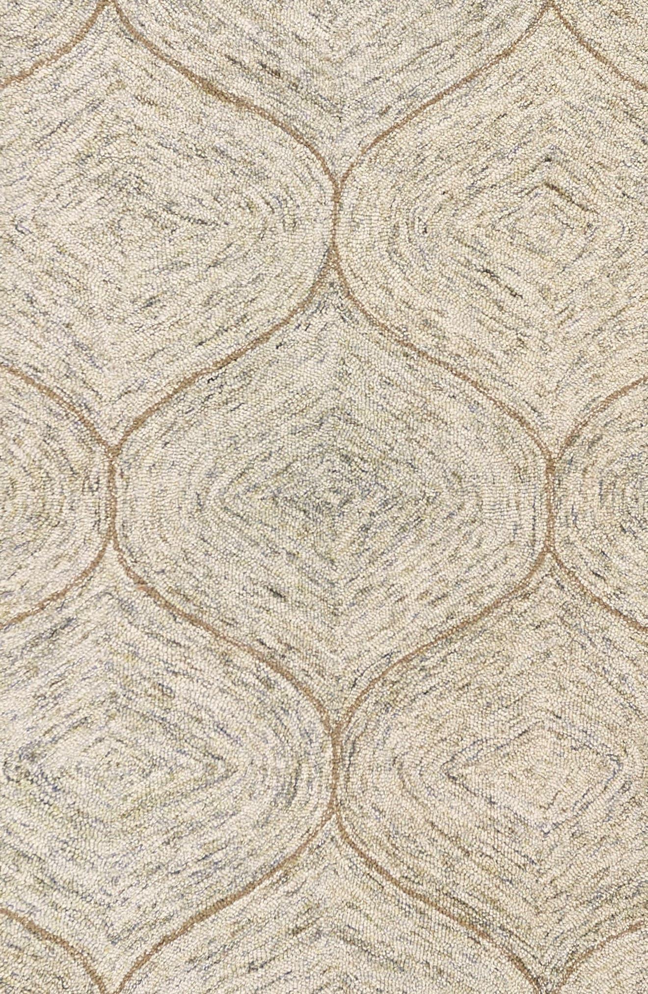 Irregular Diamond Hand Tufted Wool Area Rug,                             Alternate thumbnail 3, color,                             200