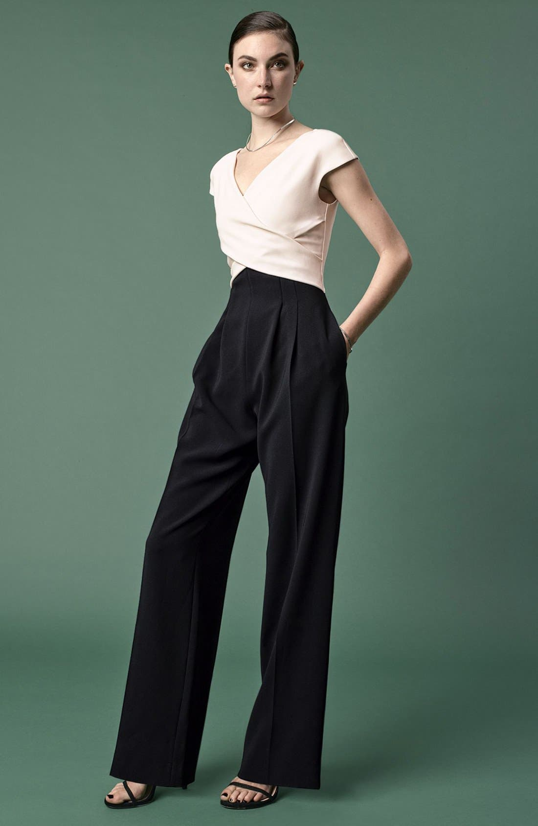 Wide Leg Jumpsuit,                             Alternate thumbnail 6, color,                             006