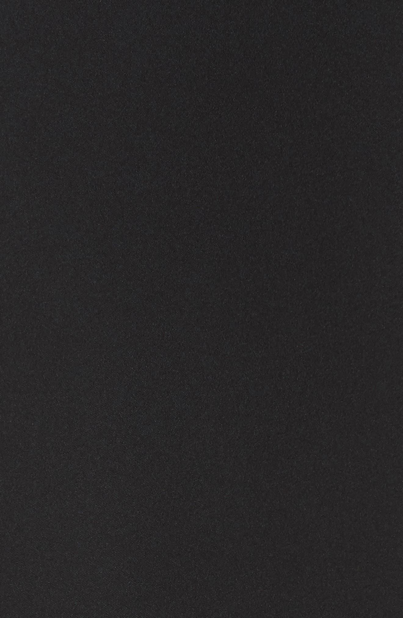 Tanelis Georgette Top,                             Alternate thumbnail 5, color,                             BLACK