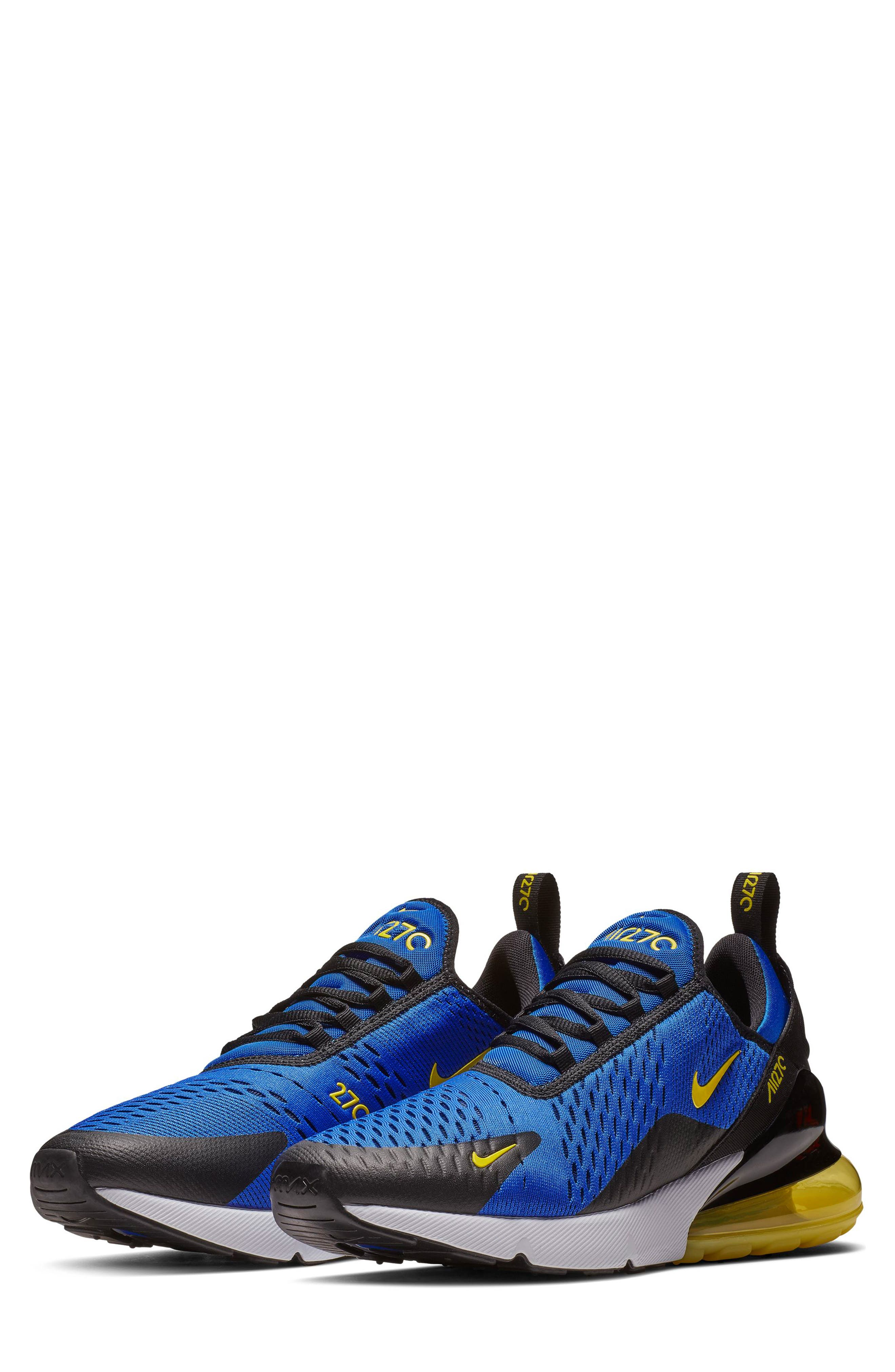 Air Max 270 Sneaker,                             Main thumbnail 1, color,                             GAME ROYAL/ WHITE/ BLACK
