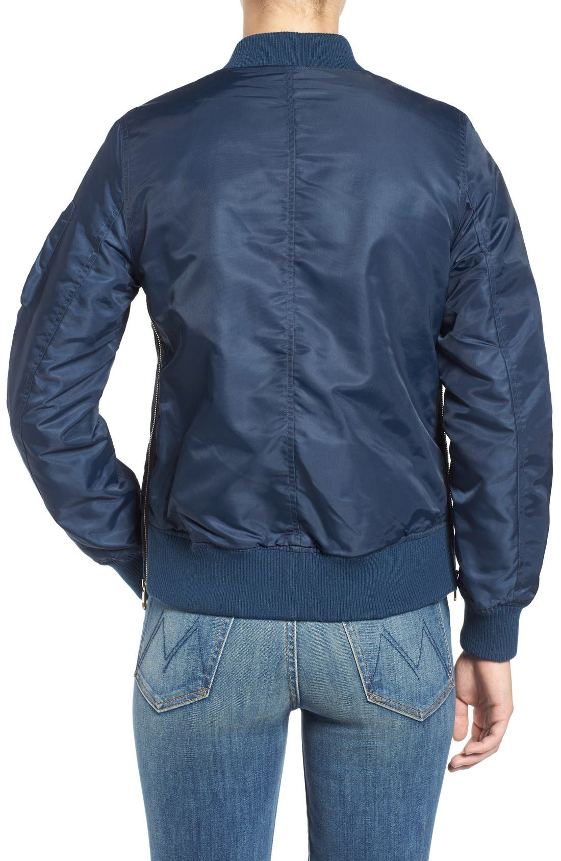 Side Zip Bomber Jacket,                             Alternate thumbnail 31, color,