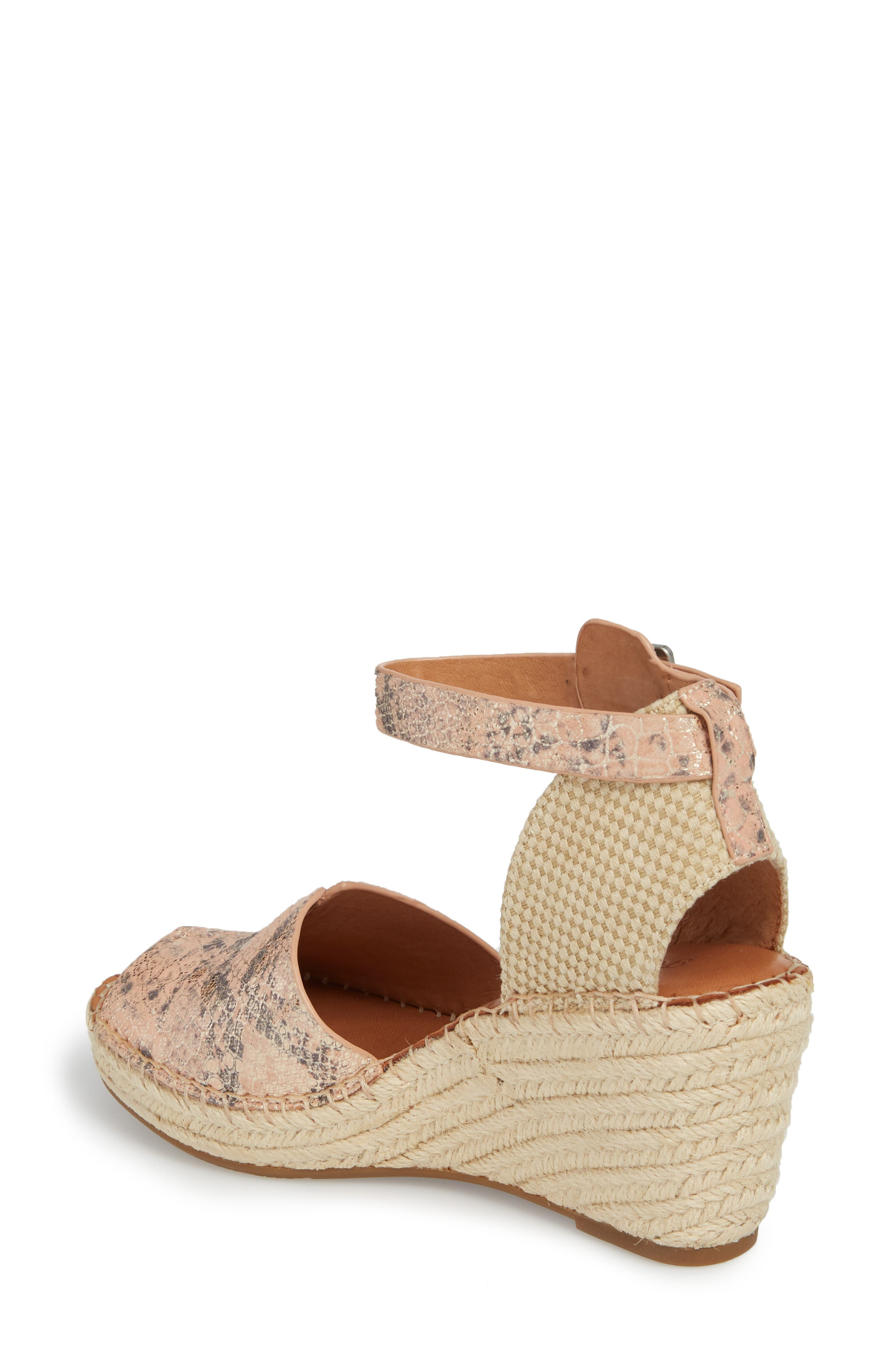 by Kenneth Cole Charli Espadrille Wedge,                             Alternate thumbnail 2, color,                             ROSE METALLIC LEATHER