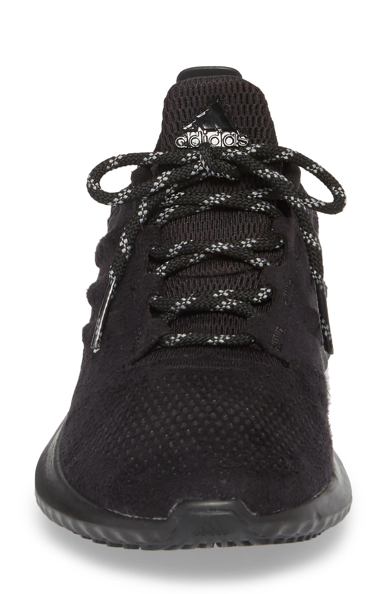 AlphaBounce CR Running Shoe,                             Alternate thumbnail 4, color,                             CORE BLACK/ CORE BLACK