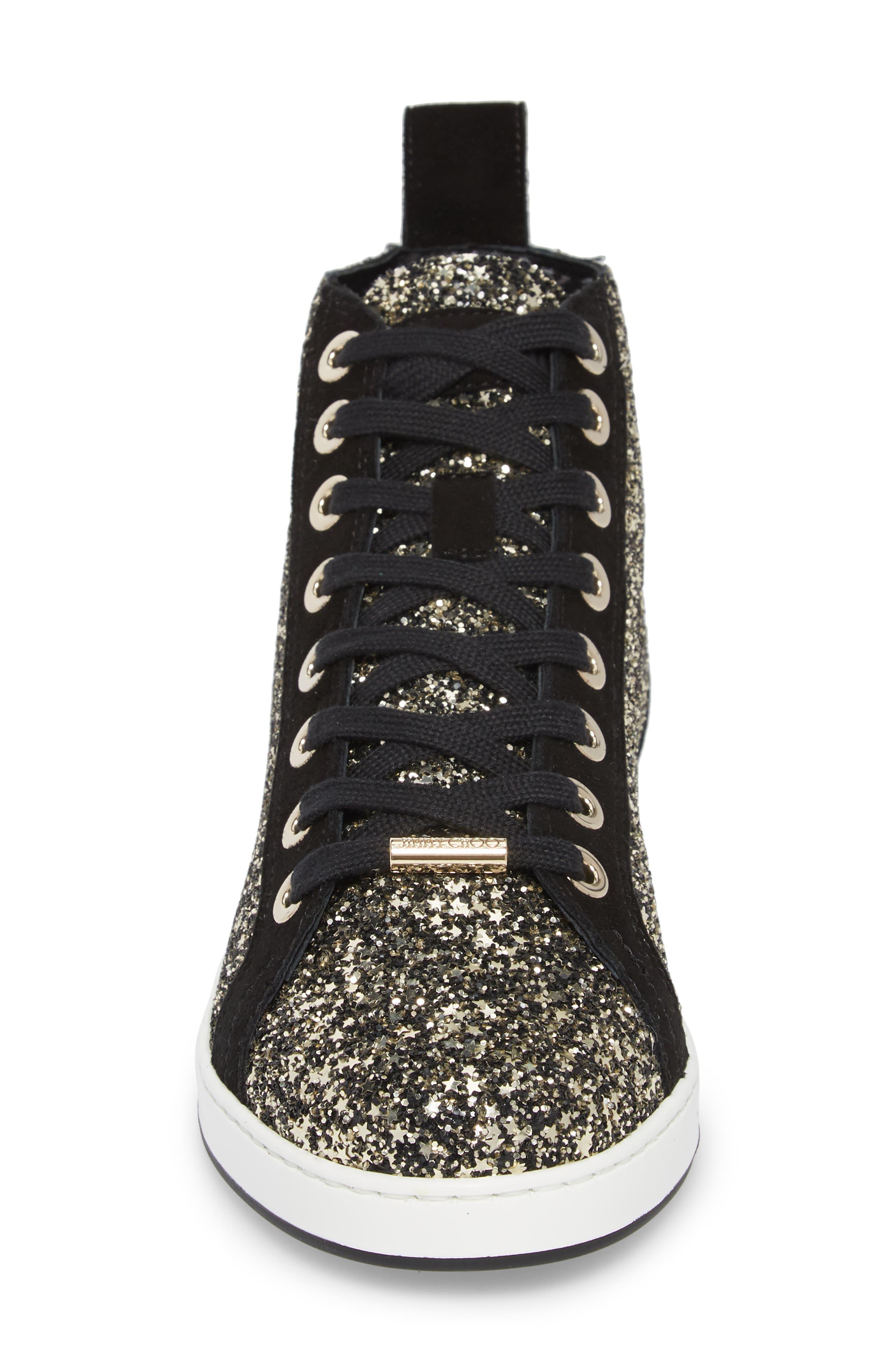 Colt Glitter High Top Sneaker,                             Alternate thumbnail 4, color,                             710
