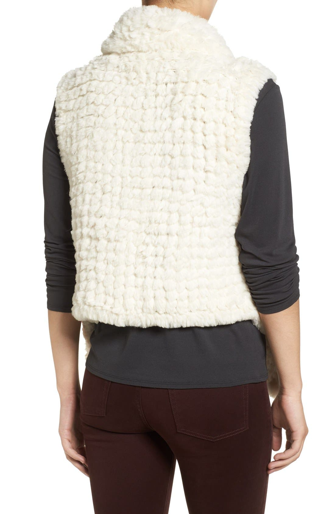 Faux Fur Vest,                             Alternate thumbnail 9, color,