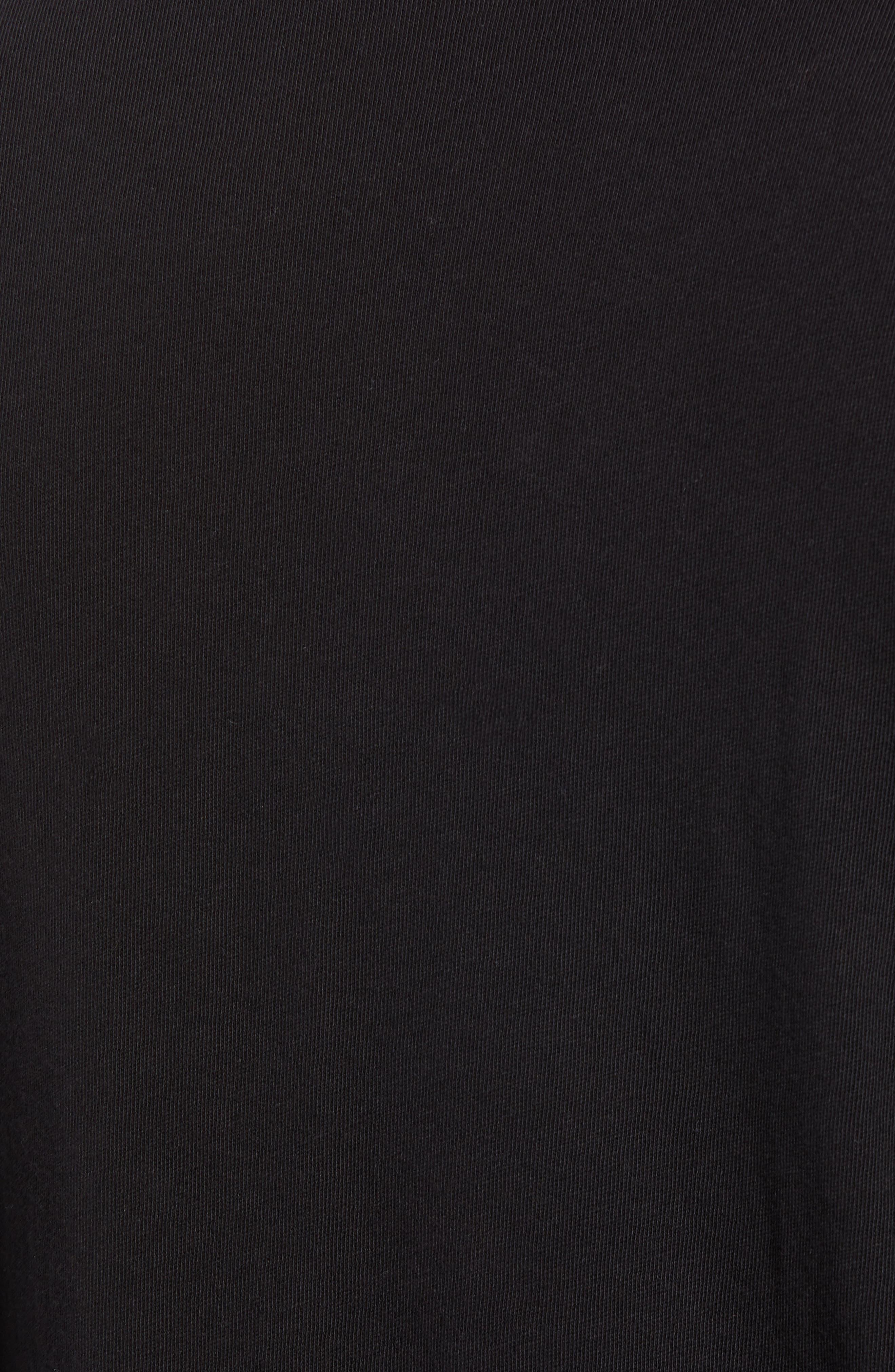 Long Sleeve Henley,                             Alternate thumbnail 5, color,                             BLACK