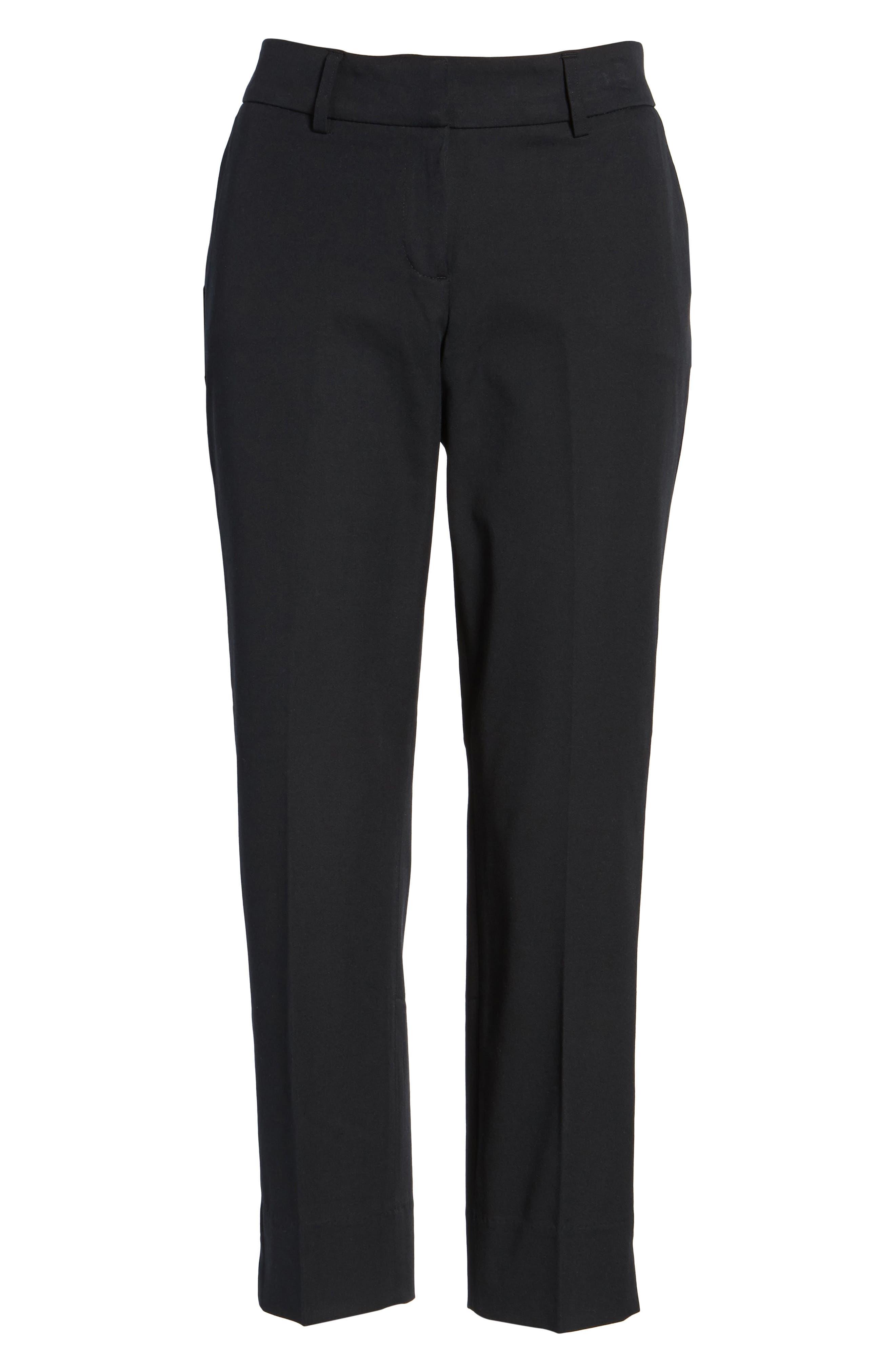 Crop Stretch Cotton Pants,                             Alternate thumbnail 50, color,
