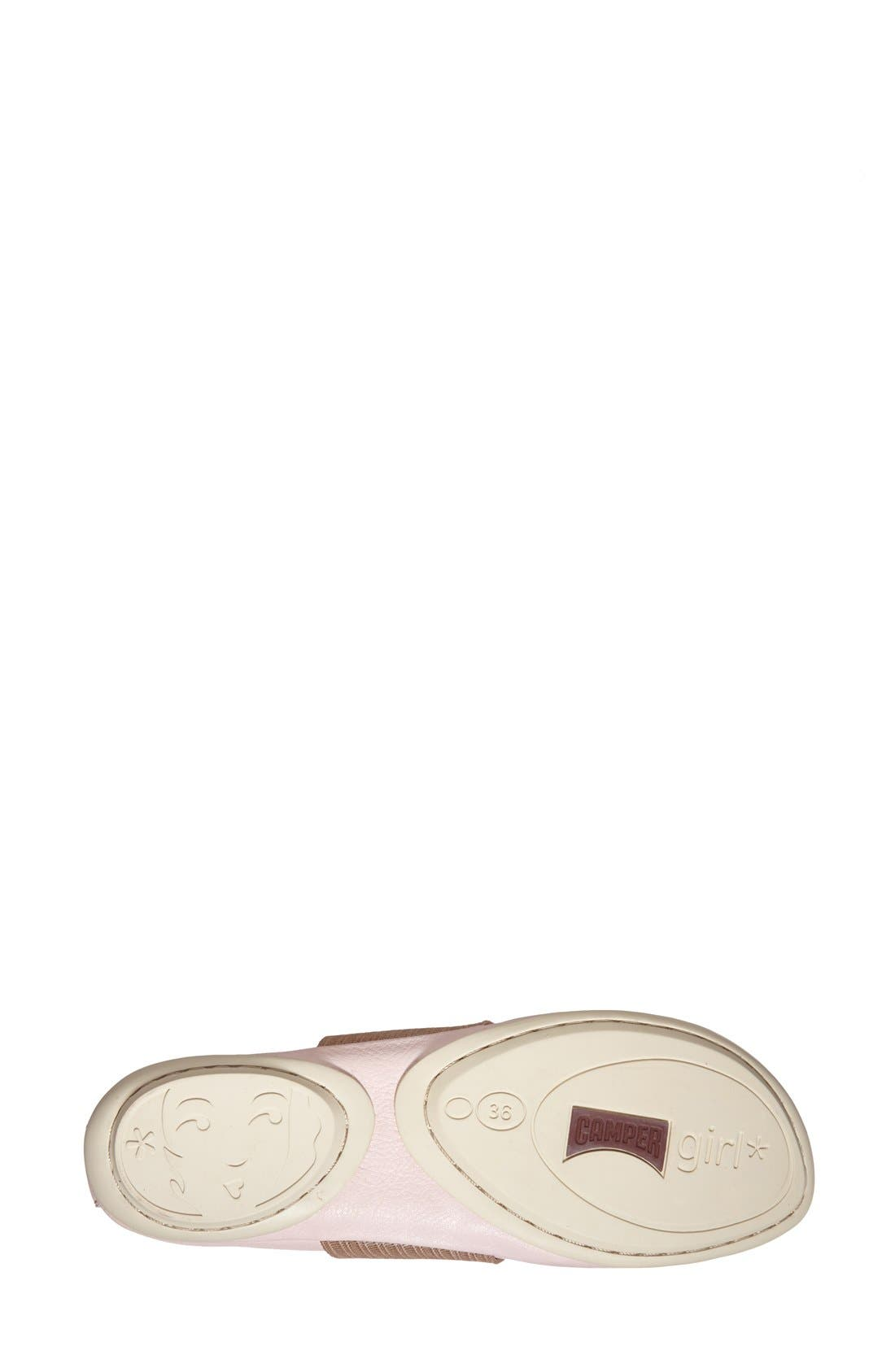 'Right Nina' Leather Ballerina Flat,                             Alternate thumbnail 135, color,
