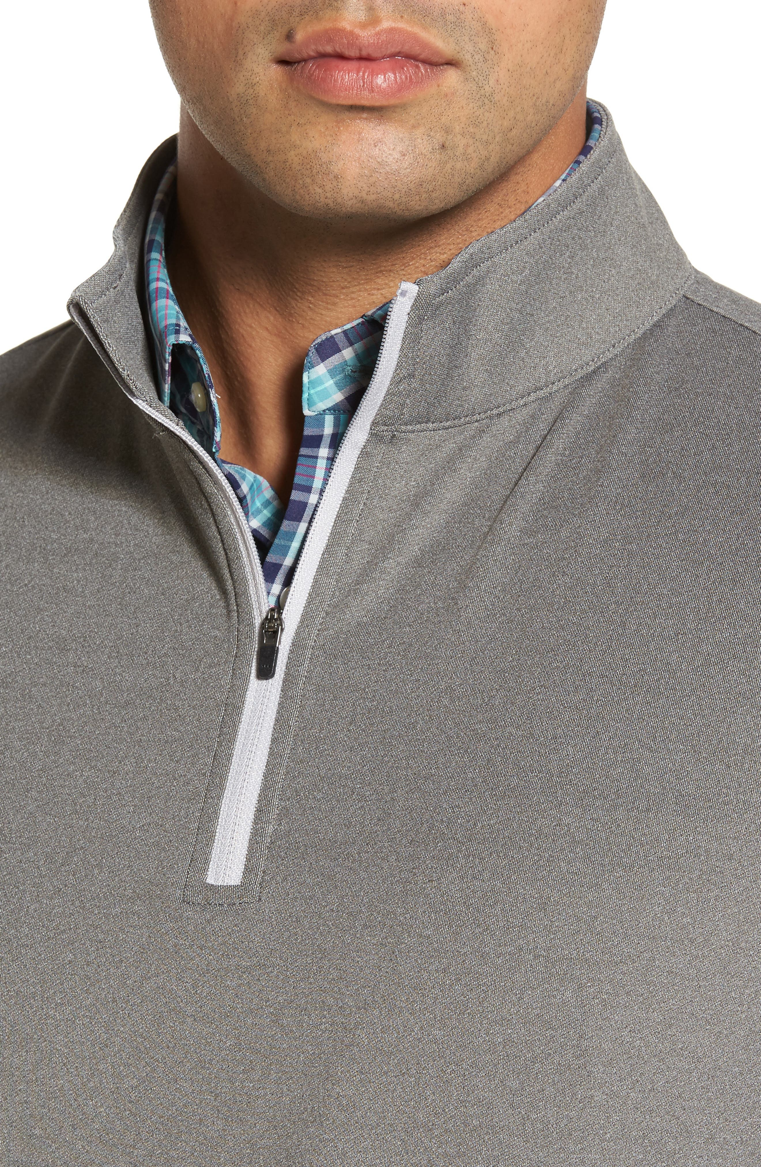 Galway Stretch Terry Quarter Zip Vest,                             Alternate thumbnail 4, color,                             025