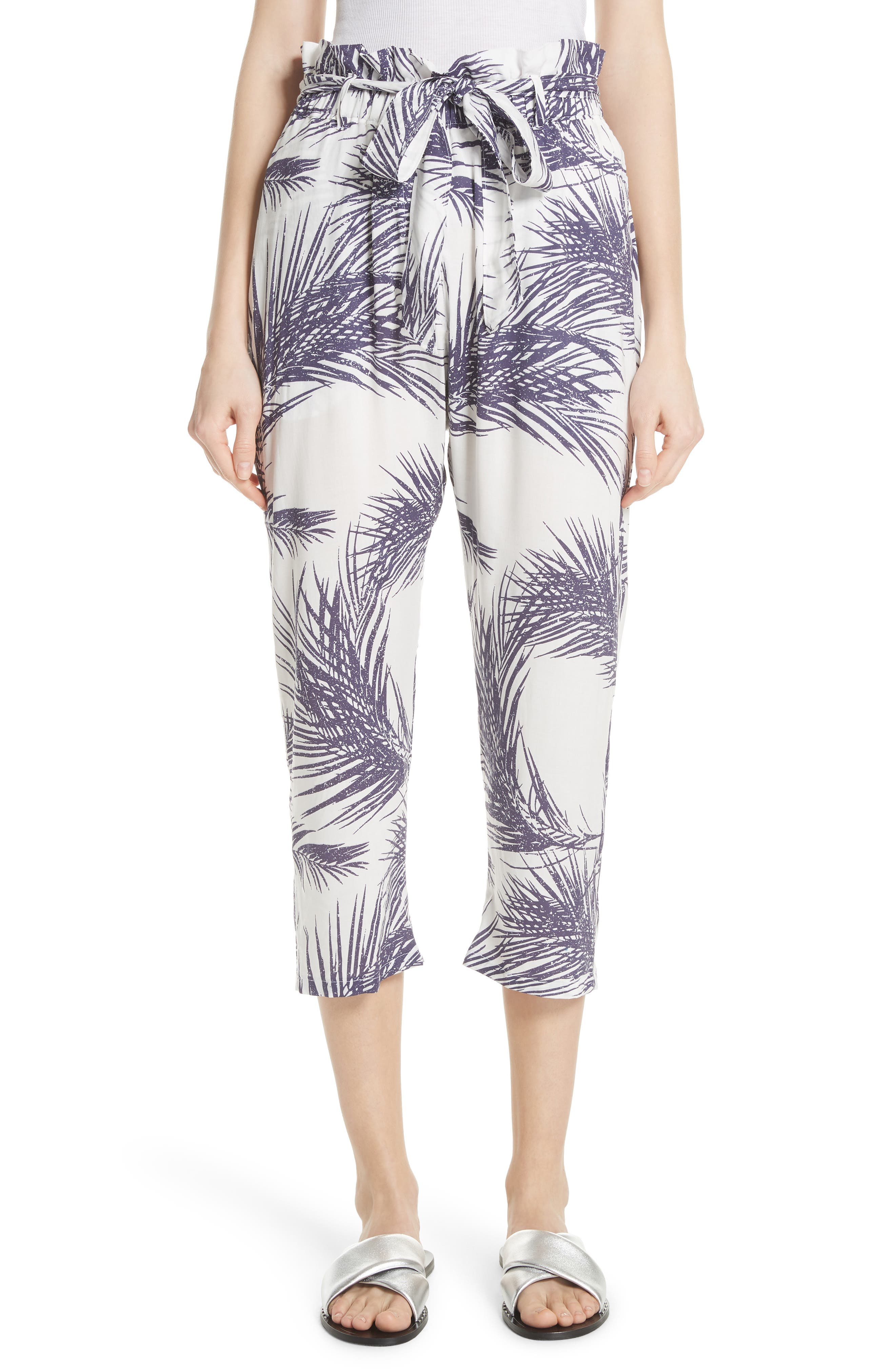 Surf Print Paperbag Pants,                             Main thumbnail 1, color,