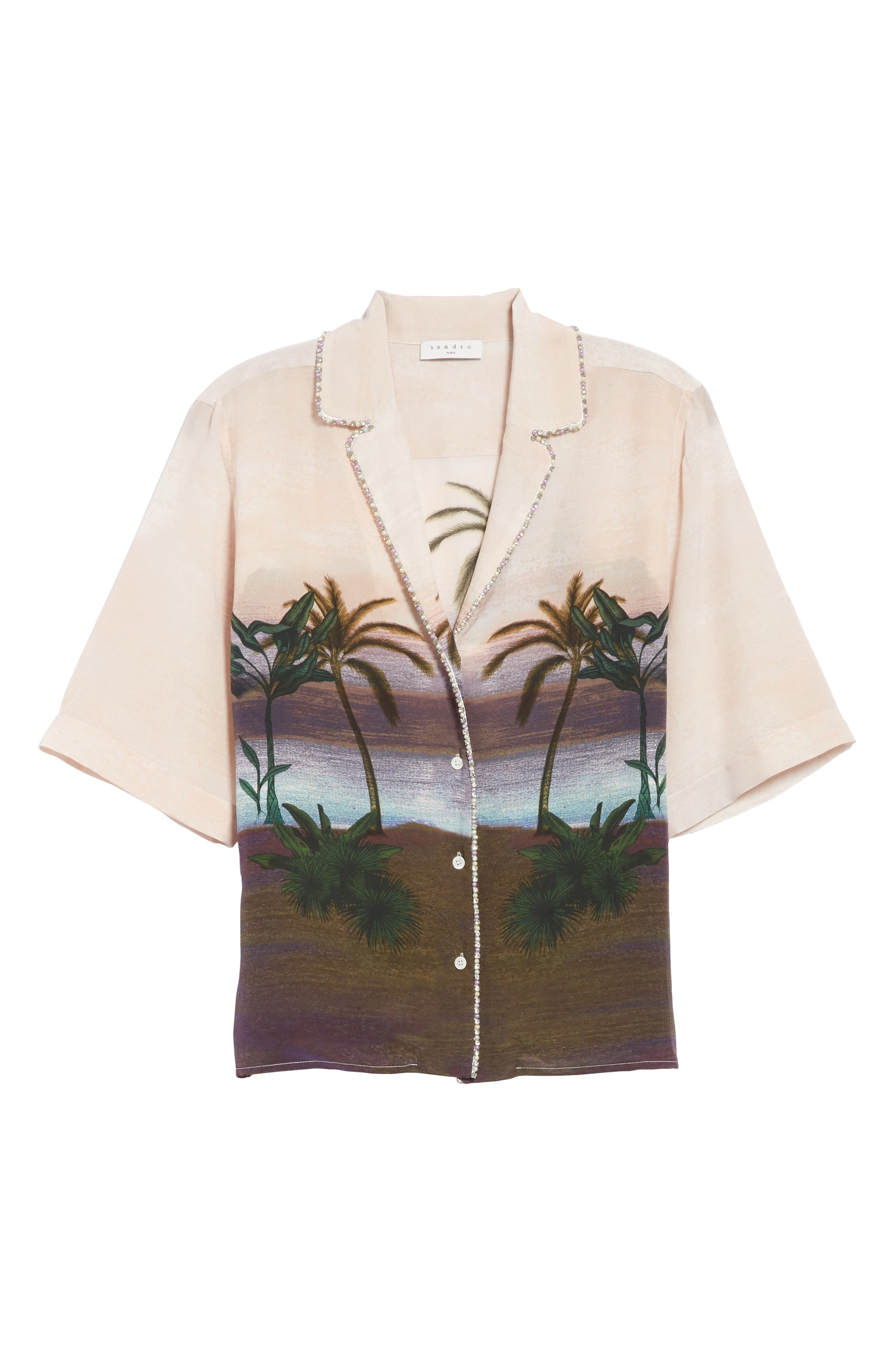 Embellished Tropical Top,                             Alternate thumbnail 6, color,                             650