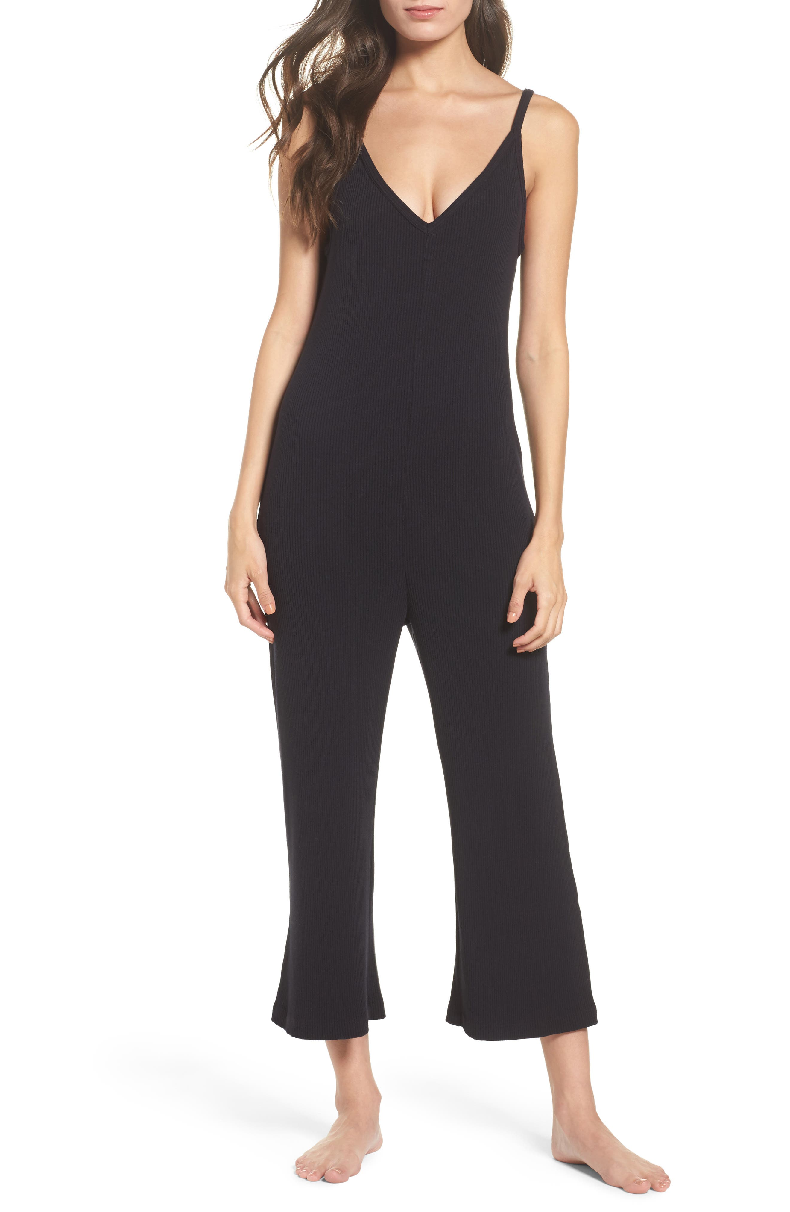 Naomi Knit Lounge Jumpsuit,                             Main thumbnail 1, color,                             009