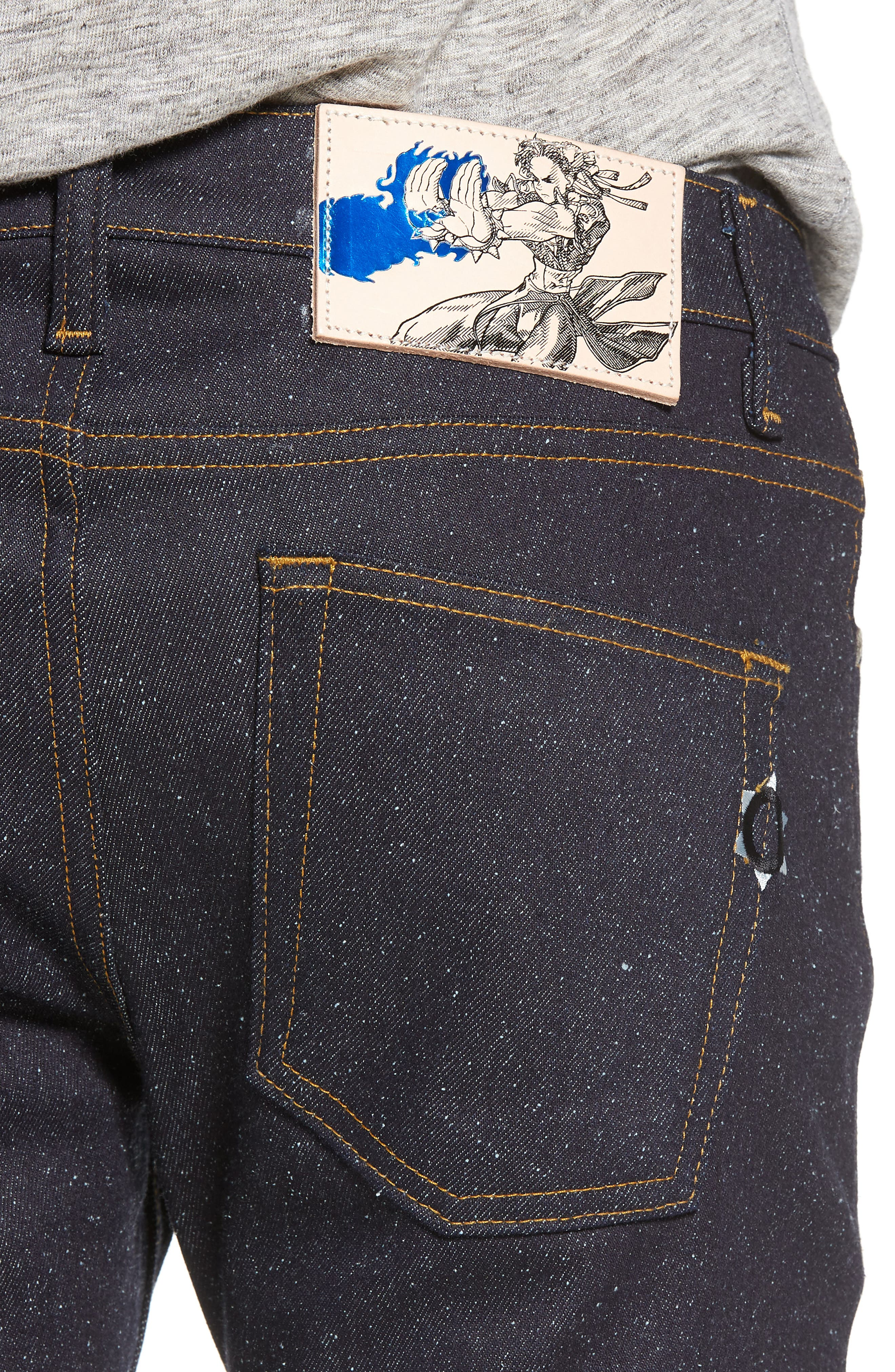 Super Skinny Guy Skinny Fit Jeans,                             Alternate thumbnail 4, color,                             401