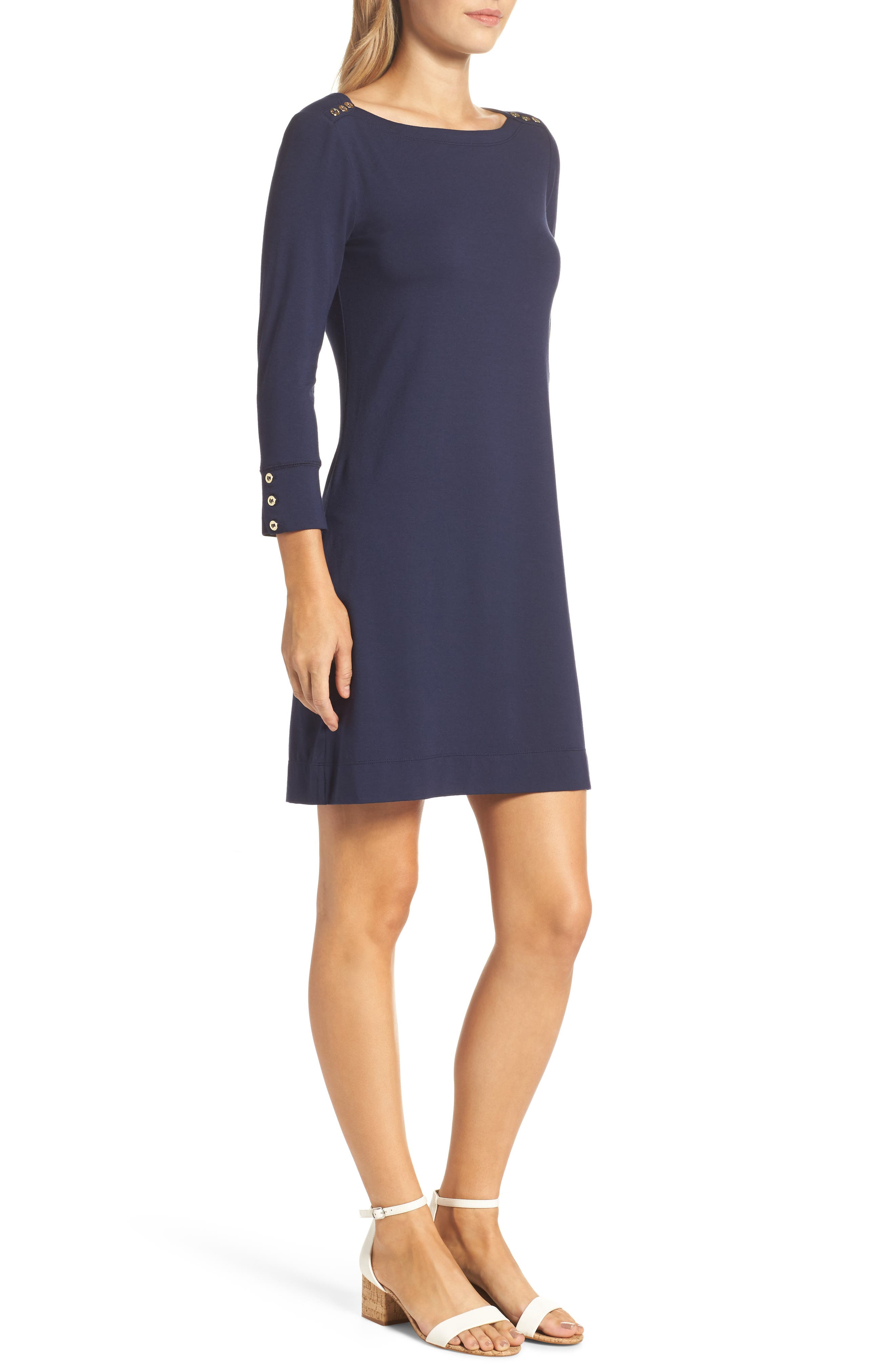 LILLY PULITZER<SUP>®</SUP>,                             Sophie UPF 50+ Dress,                             Alternate thumbnail 3, color,                             TRUE NAVY