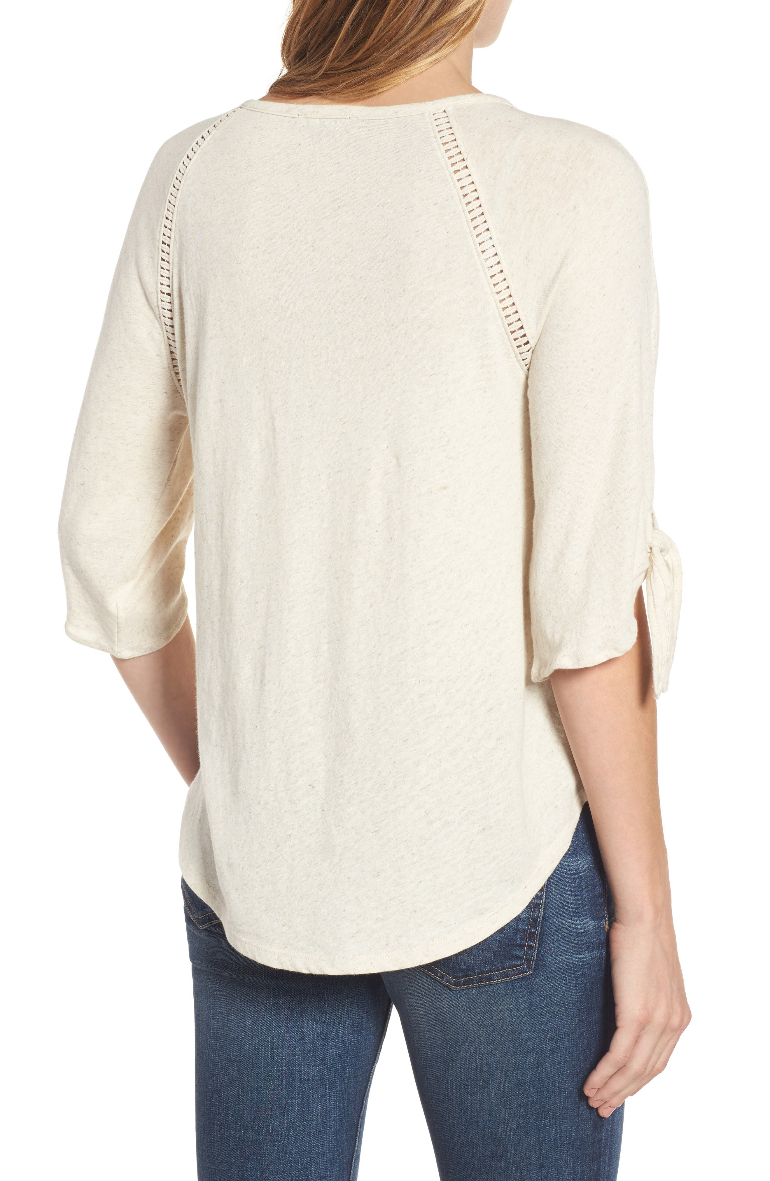Embroidered Mesh Front Top,                             Alternate thumbnail 2, color,                             279