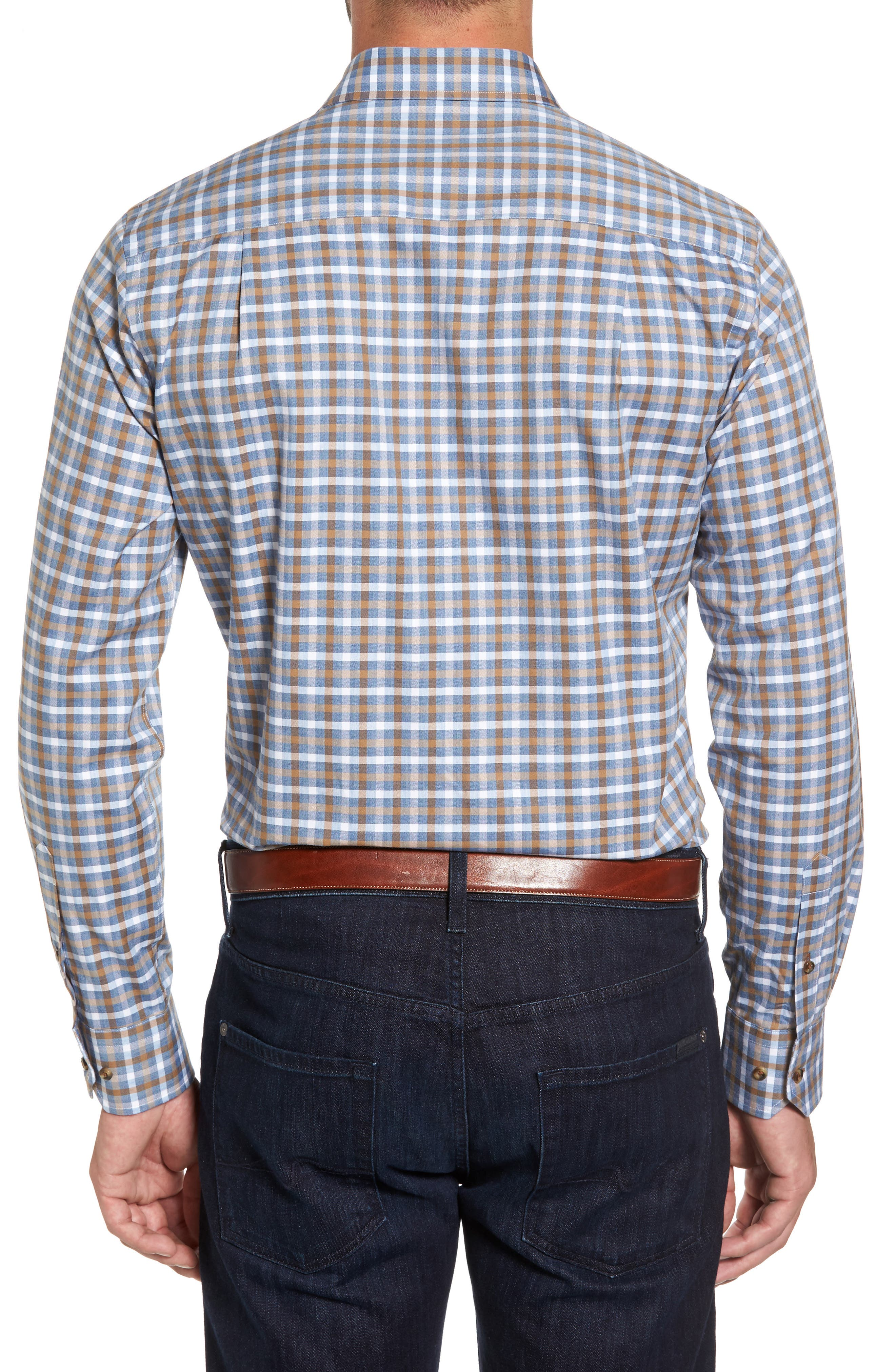 Plaid Regular Fit Sport Shirt,                             Alternate thumbnail 4, color,