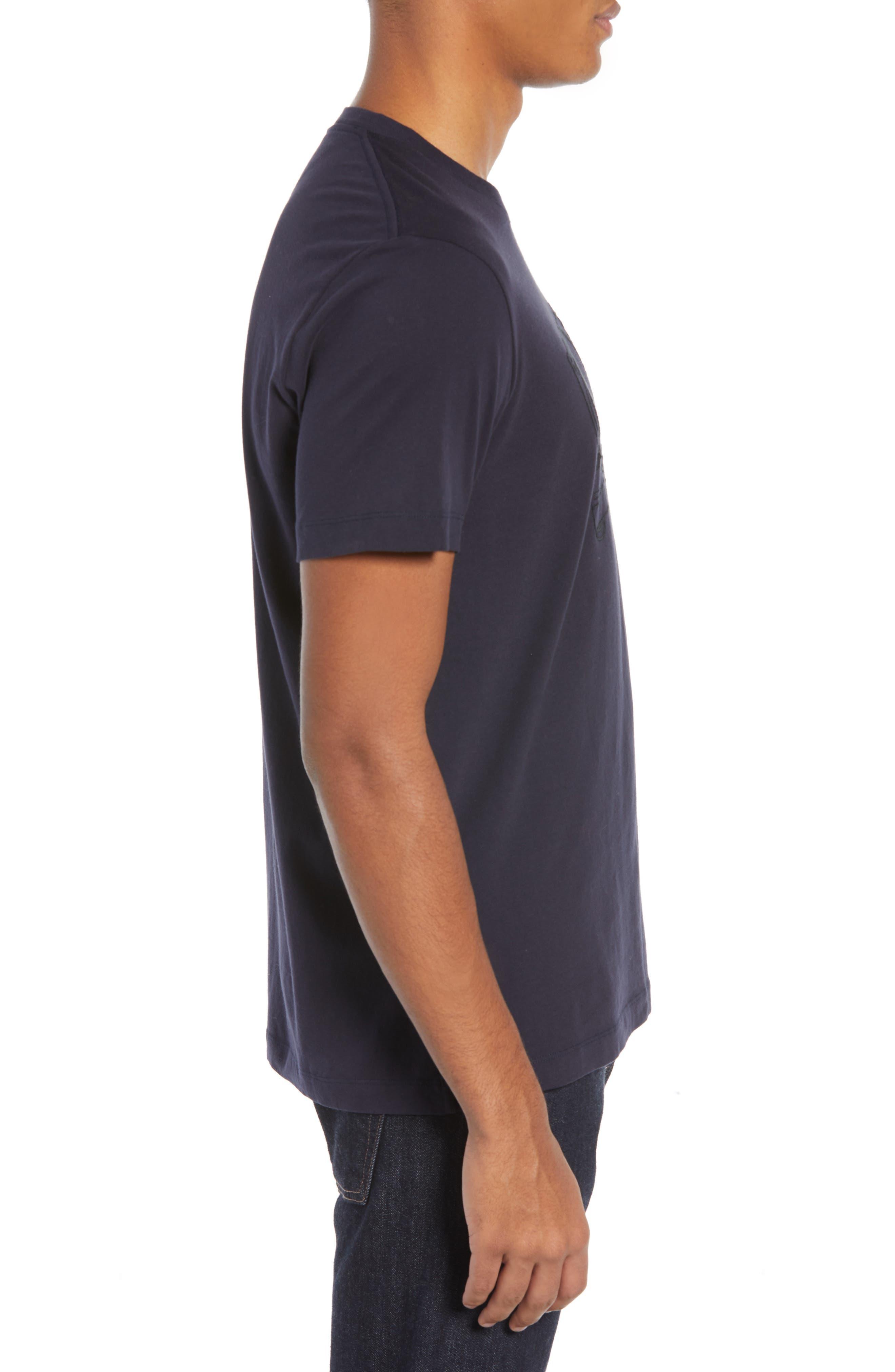 Decks Regular Fit Cotton T-Shirt,                             Alternate thumbnail 3, color,                             UTILITY BLUE BLACK