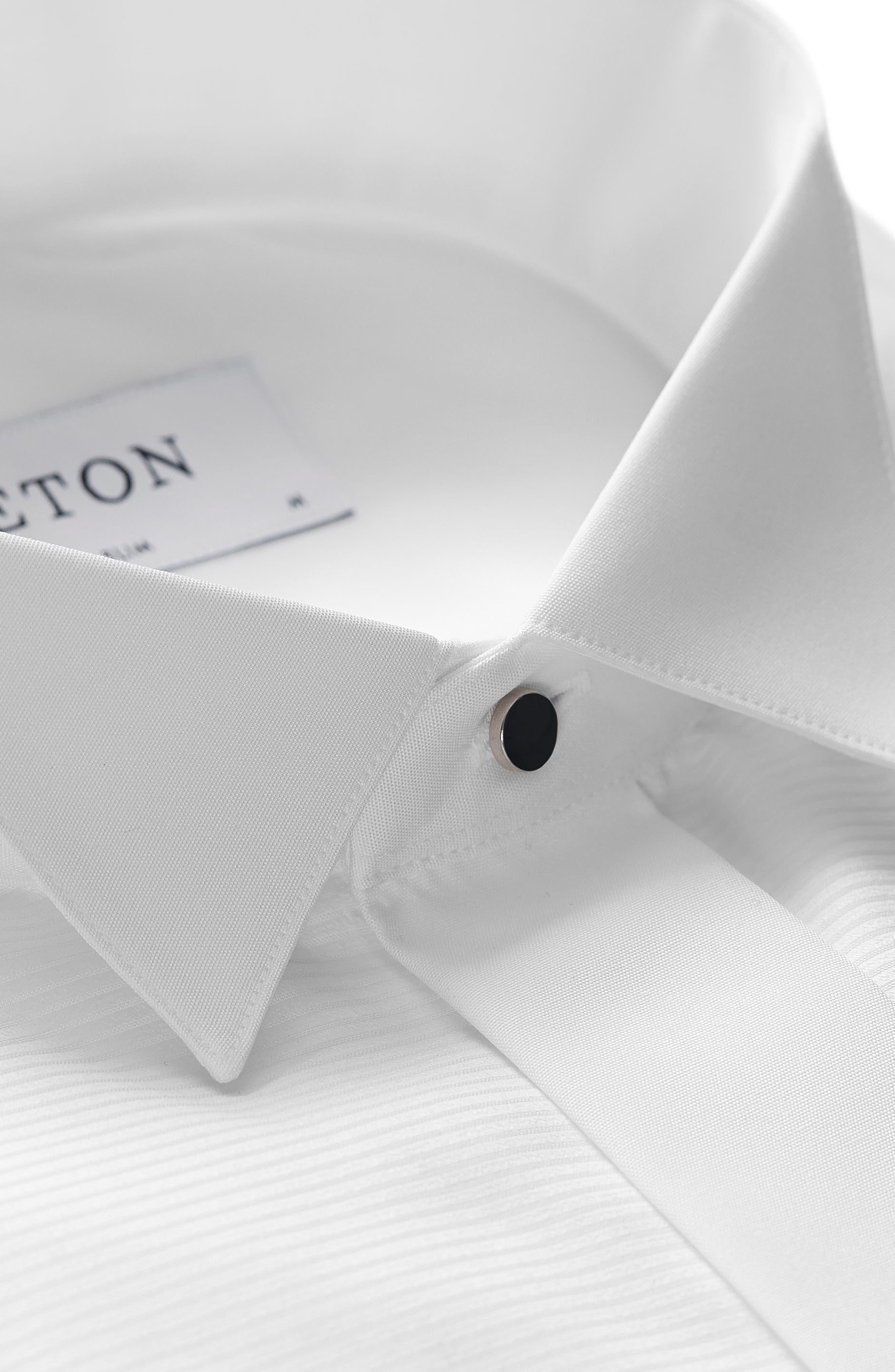 Slim Fit Wing Collar Dress Shirt,                             Alternate thumbnail 2, color,                             WHITE