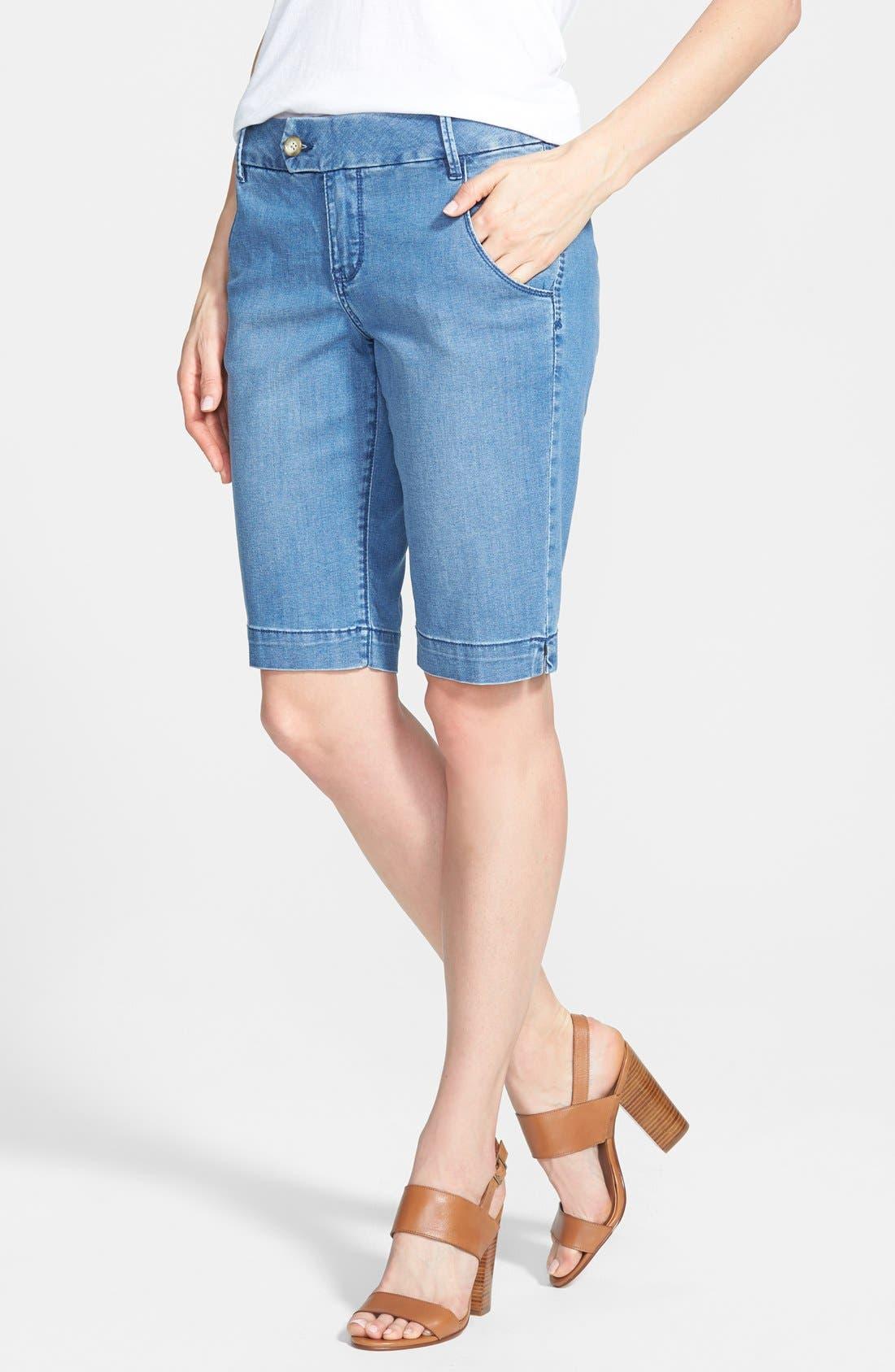 'Trina' Denim Bermuda Shorts, Main, color, 420