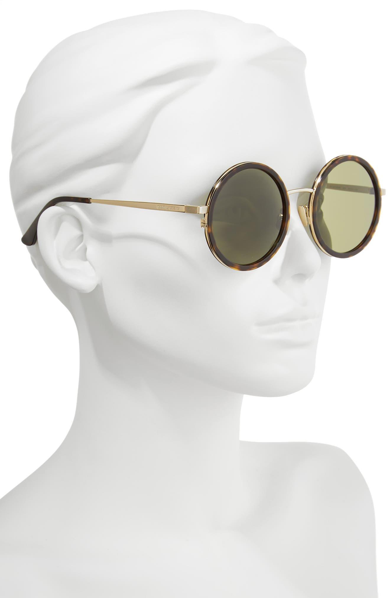 52mm Round Sunglasses,                             Alternate thumbnail 2, color,                             200