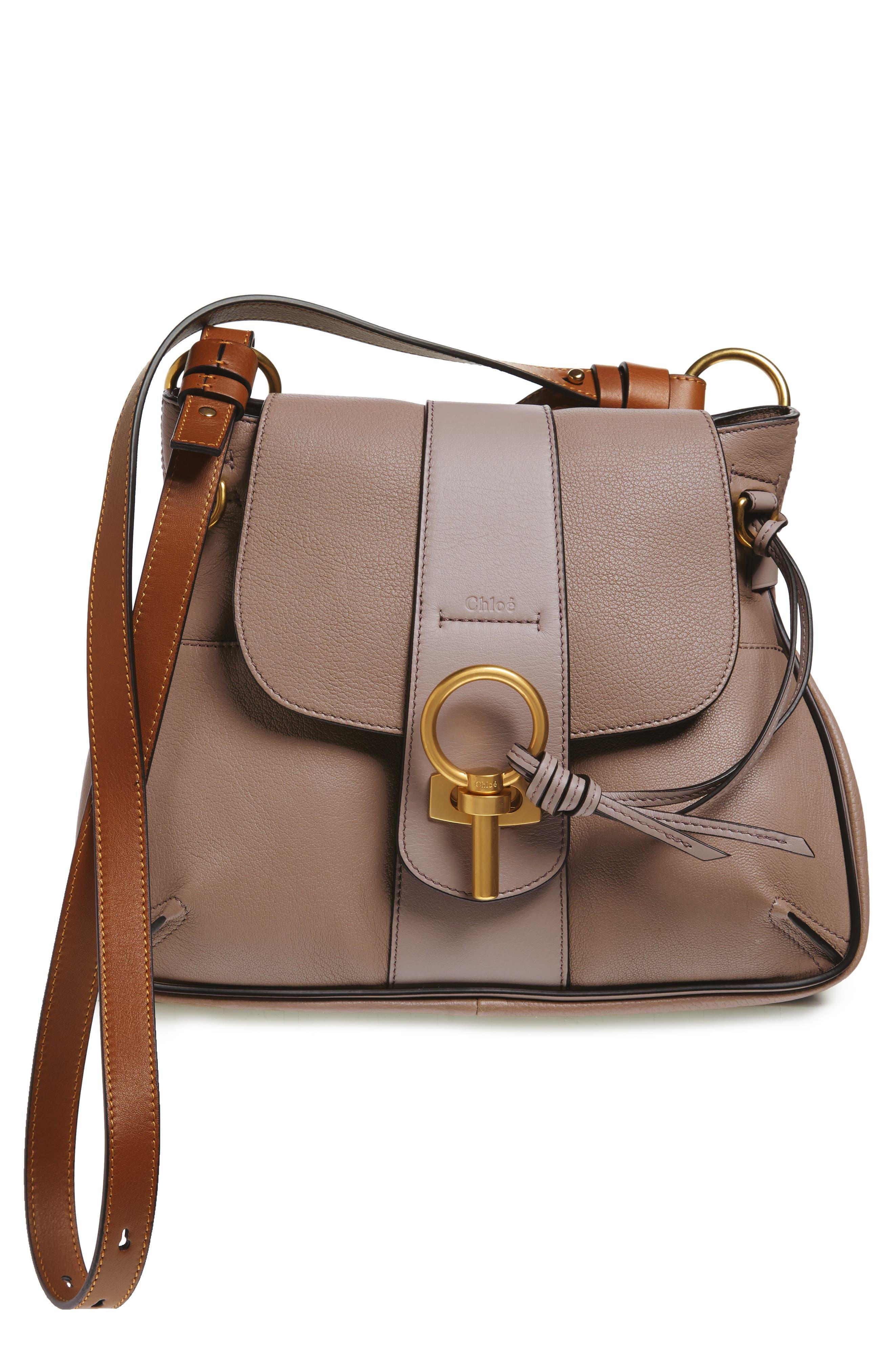 CHLOÉ Small Lexa Leather Shoulder Bag, Main, color, 031