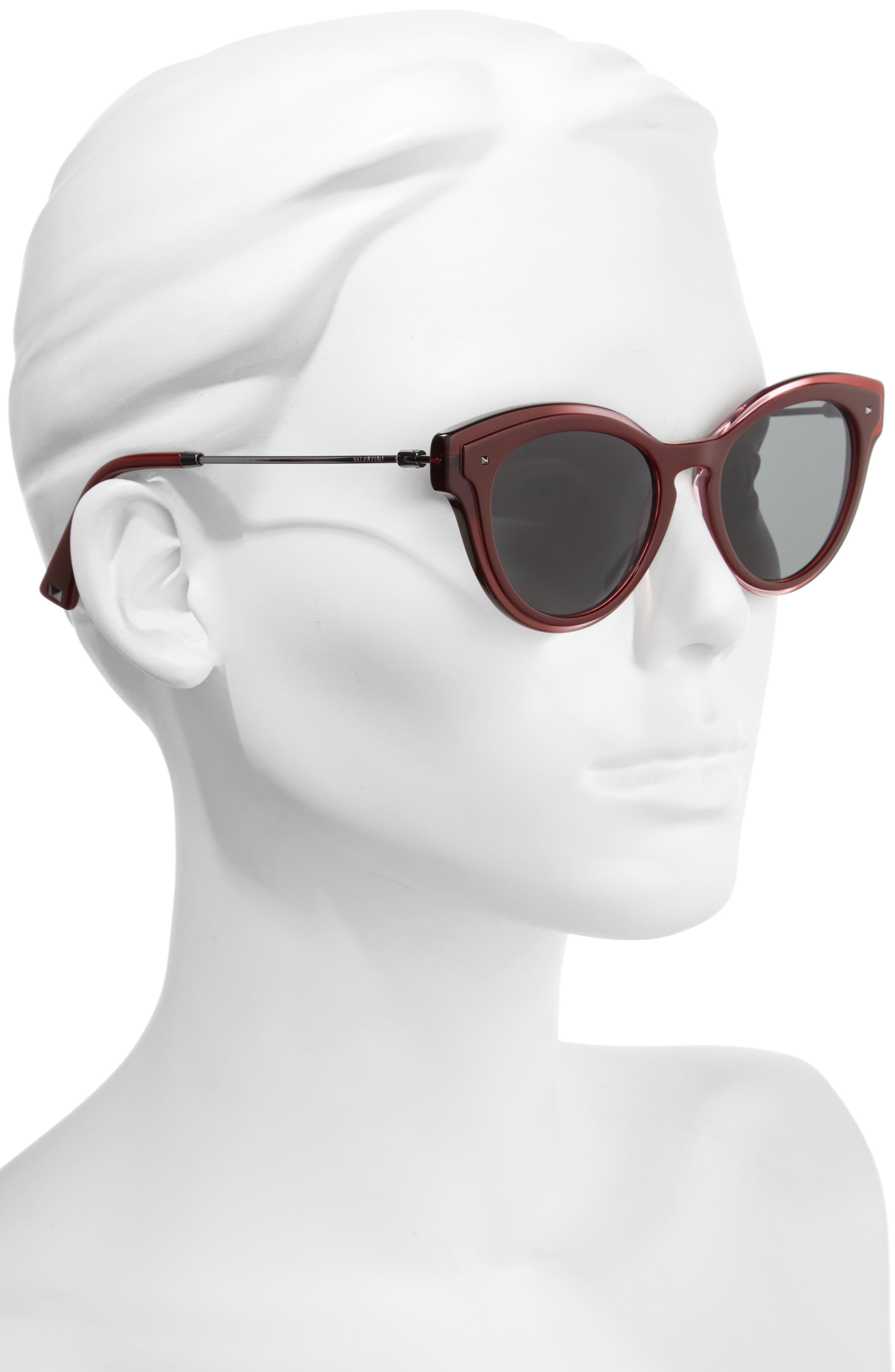 51mm Cat Eye Sunglasses,                             Alternate thumbnail 2, color,                             600