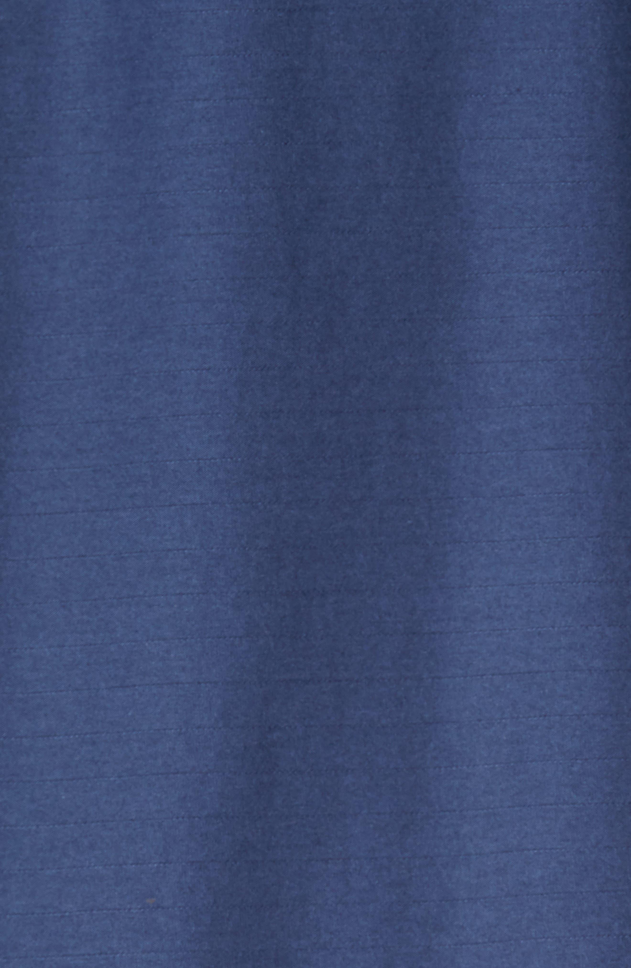 Pima Cotton & Modal V-Neck T-Shirt,                             Alternate thumbnail 5, color,                             NAVY
