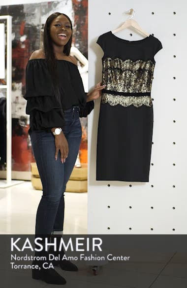 Lace Inset Scuba Dress, sales video thumbnail
