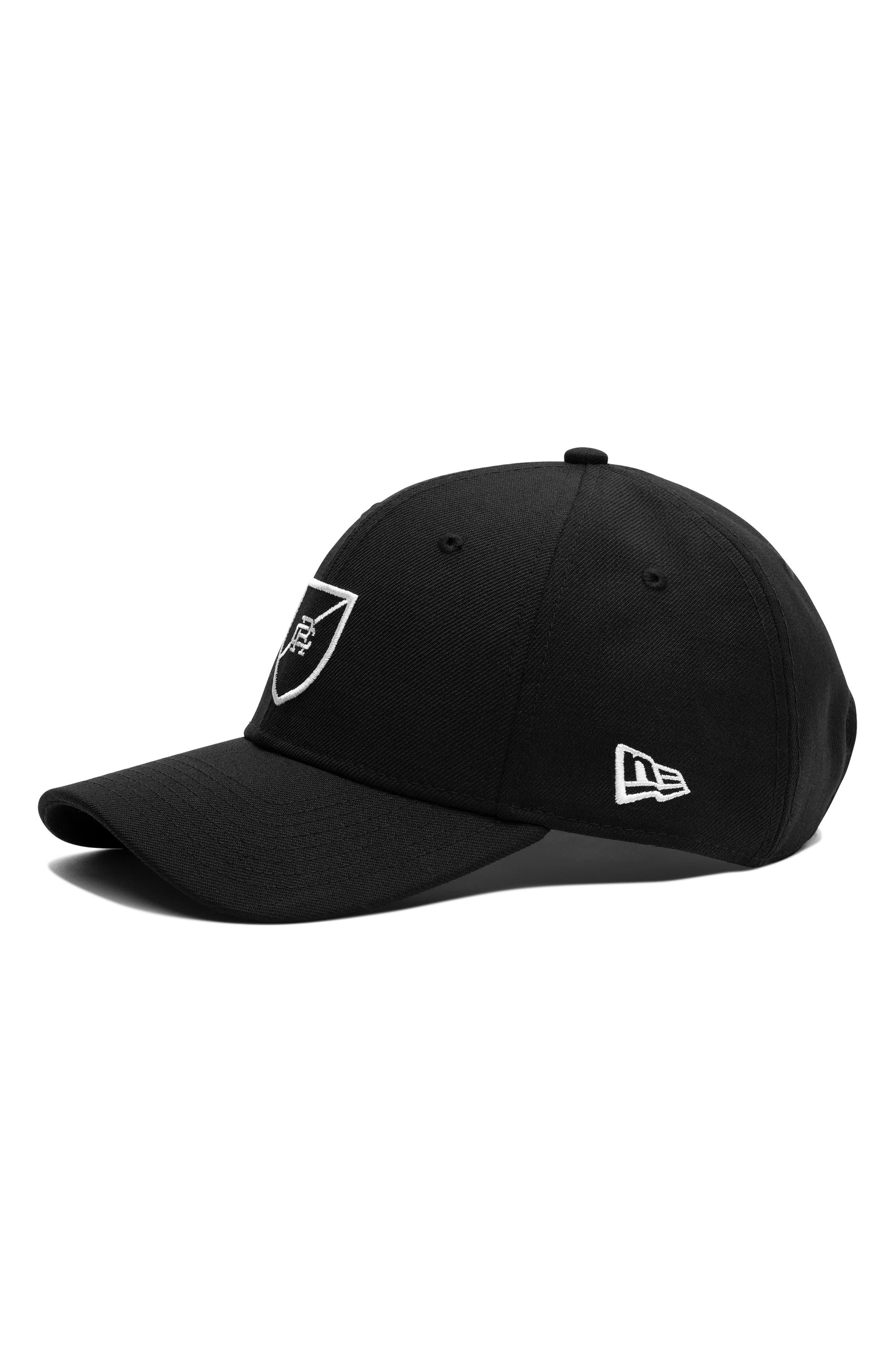 x New Era Shield Logo Ball Cap,                         Main,                         color, 001